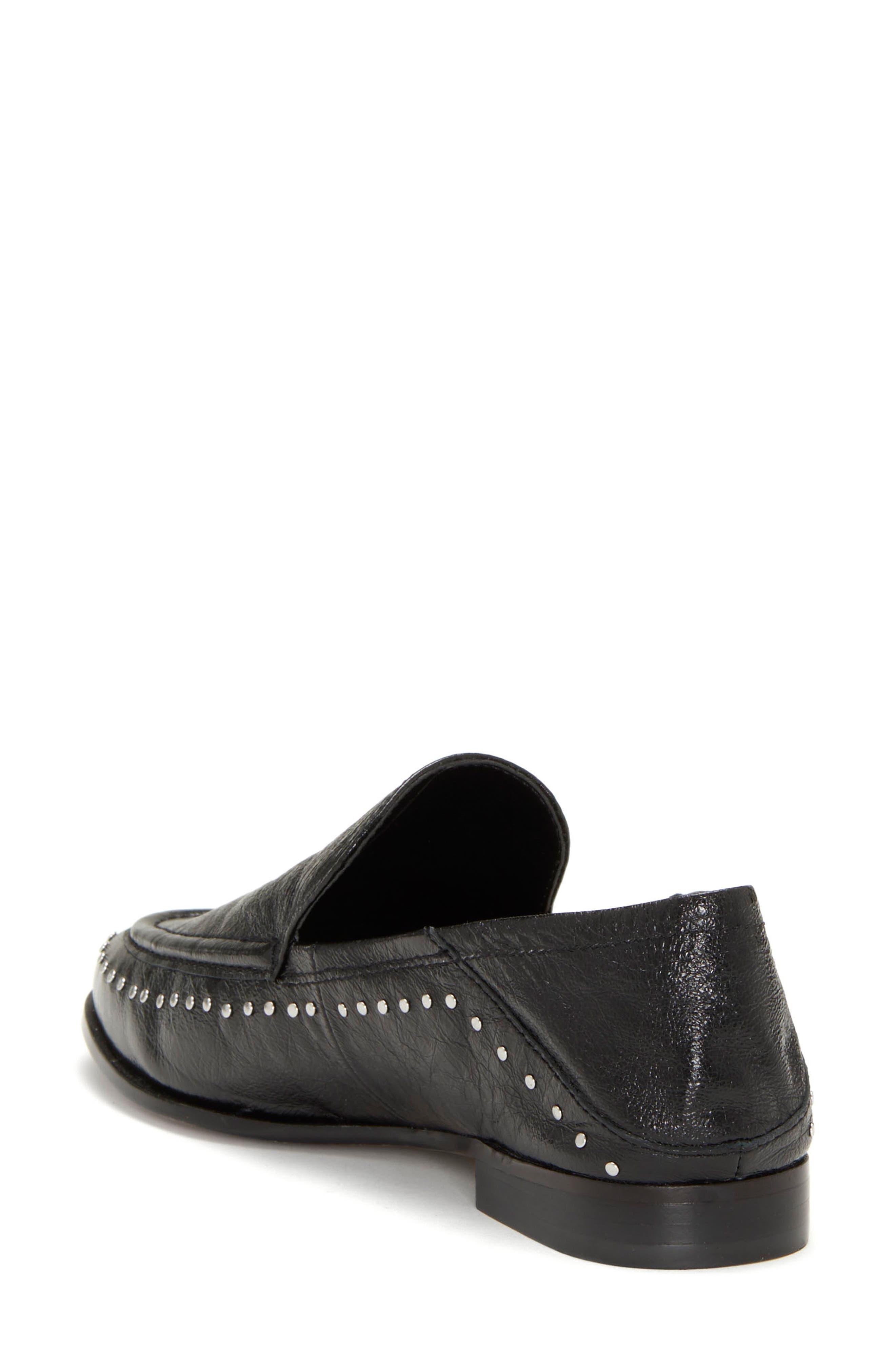 Jendeya Convertible Studded Loafer,                             Alternate thumbnail 3, color,                             001