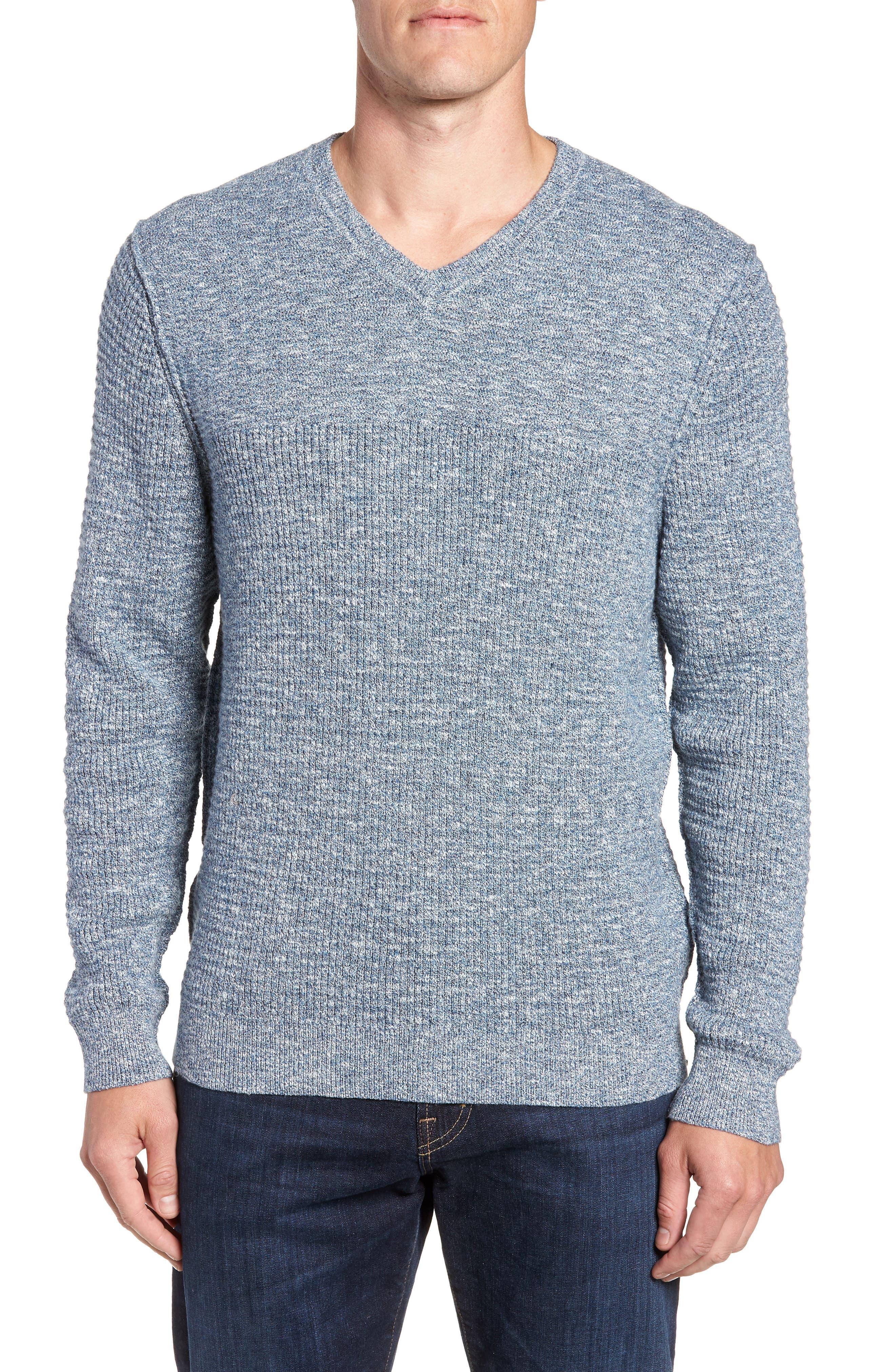 Tommy Bahama Isidro V-Neck Regular Fit Sweater, Blue