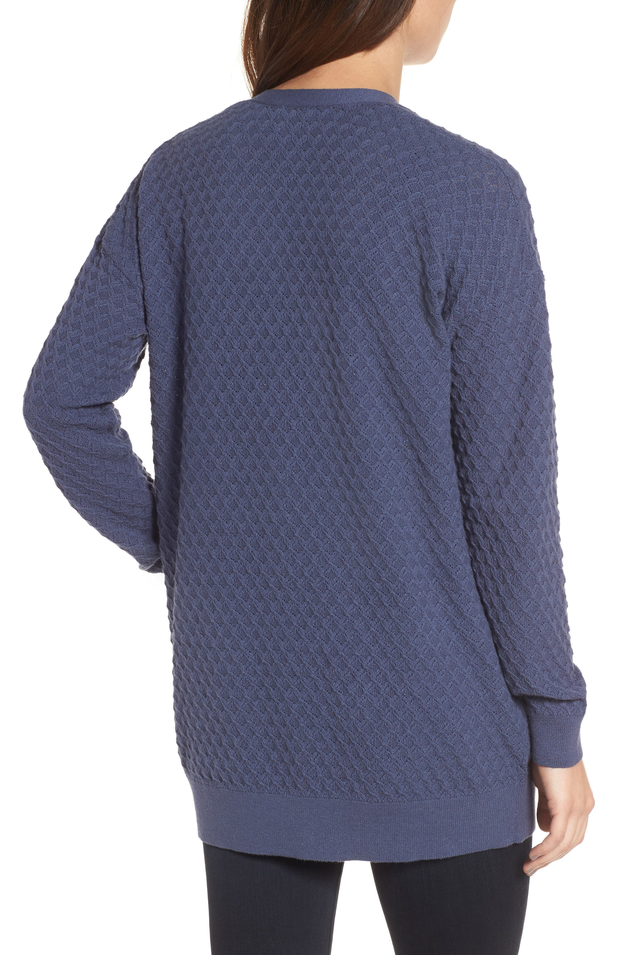 Pointelle Cardigan Sweater,                             Alternate thumbnail 7, color,