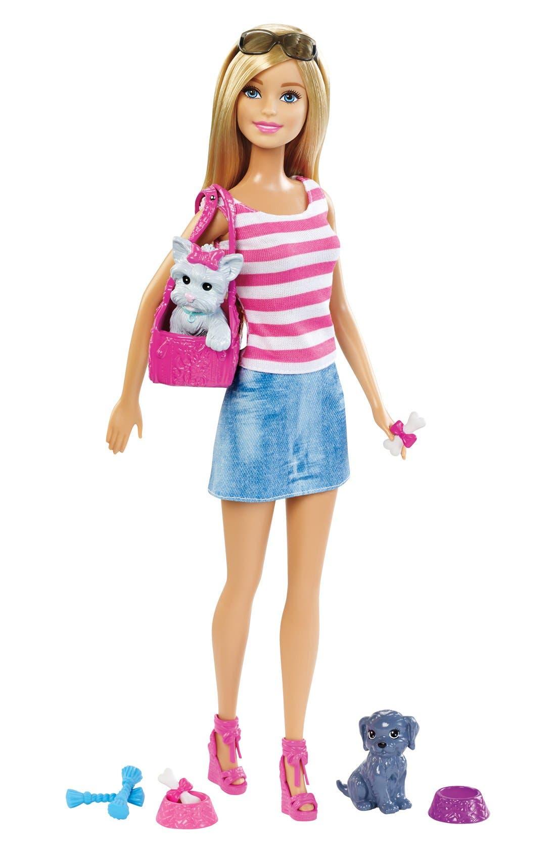 Barbie<sup>®</sup> Doll & Pets Set, Main, color, 650