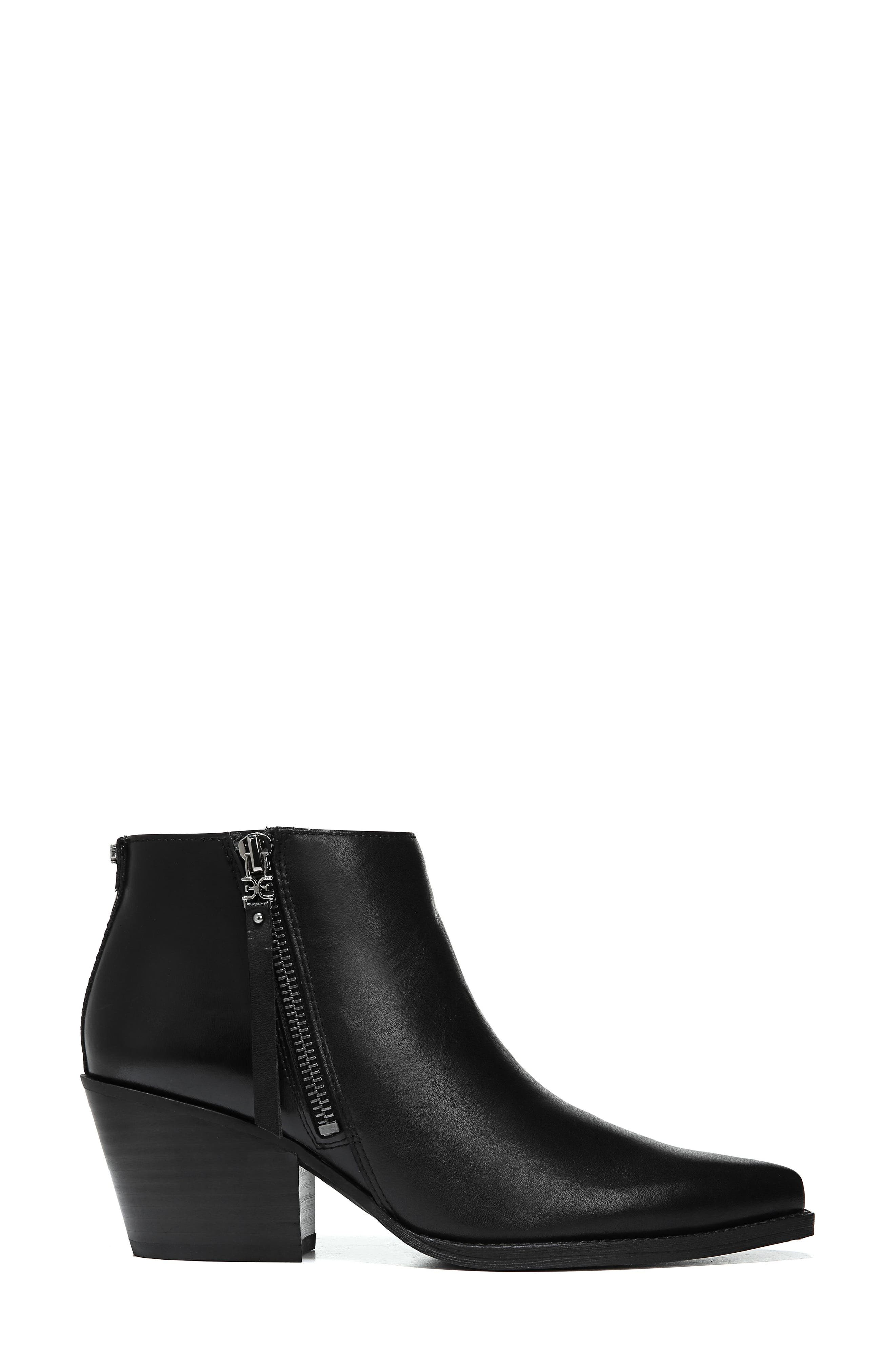 Walden Bootie,                             Alternate thumbnail 3, color,                             BLACK LEATHER