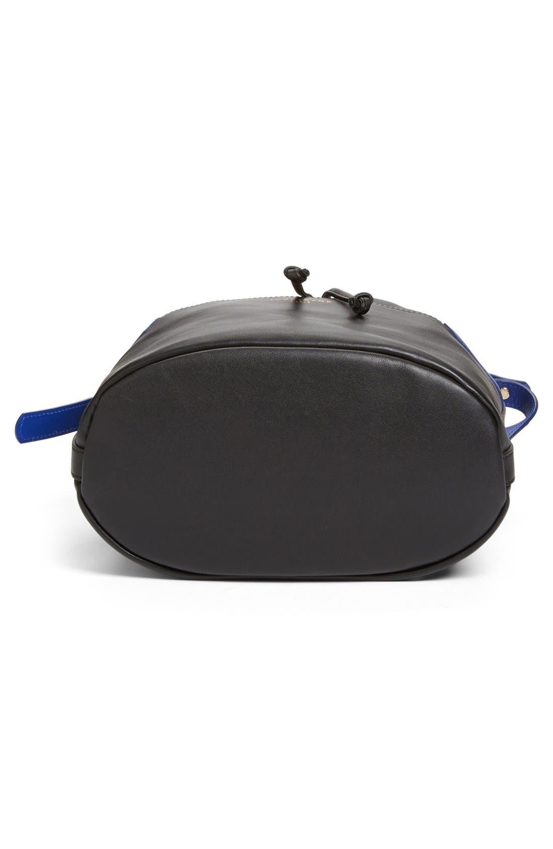 LONGCHAMP,                             '2.0' Leather Bucket Bag,                             Alternate thumbnail 5, color,                             001