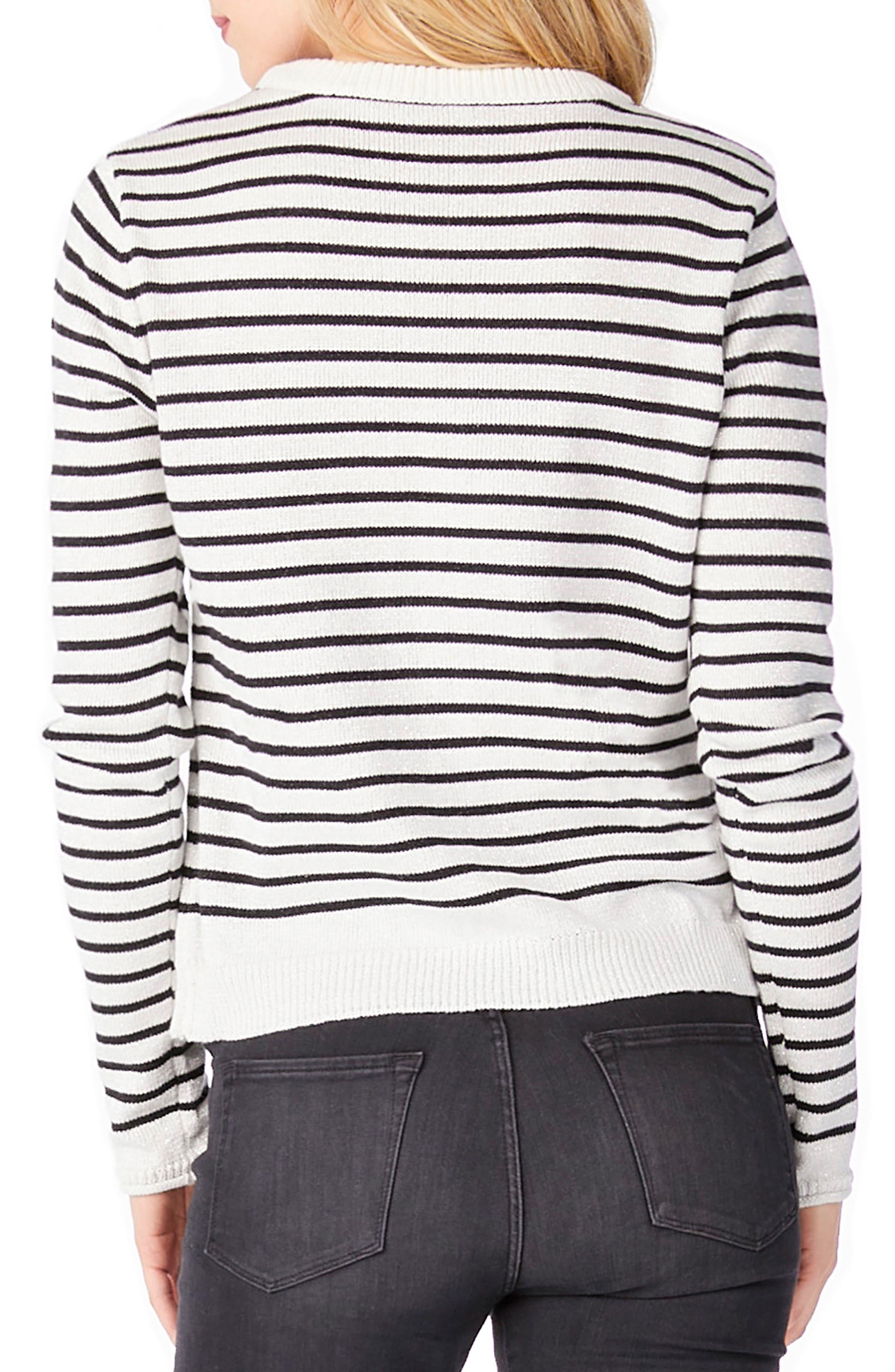 Stripe Patch Crewneck Sweater,                             Alternate thumbnail 2, color,                             100