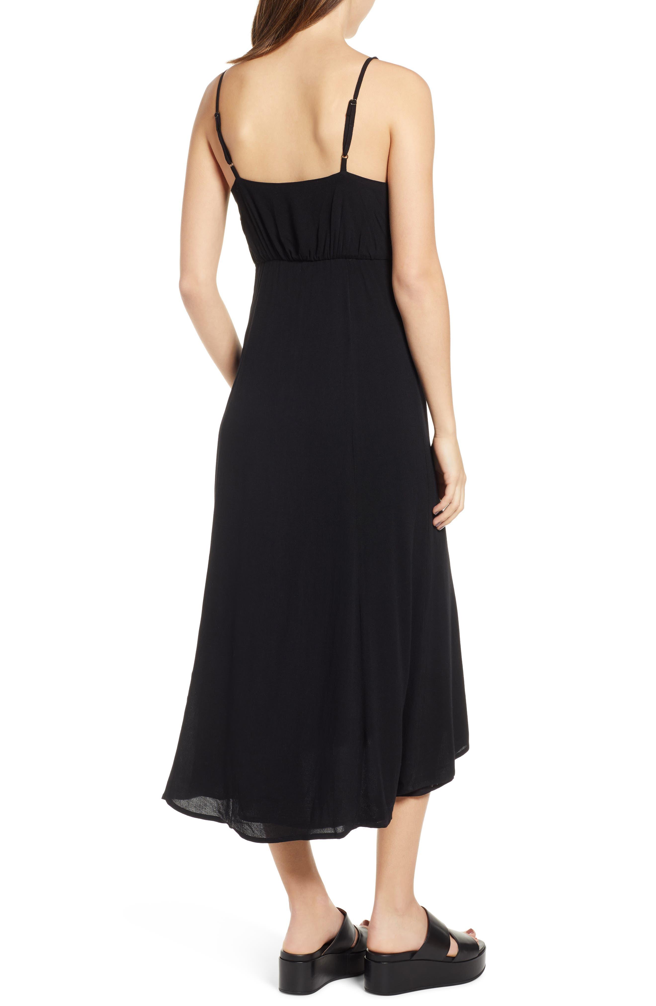 LIRA CLOTHING,                             Cedar Break Midi Dress,                             Alternate thumbnail 2, color,                             BLACK