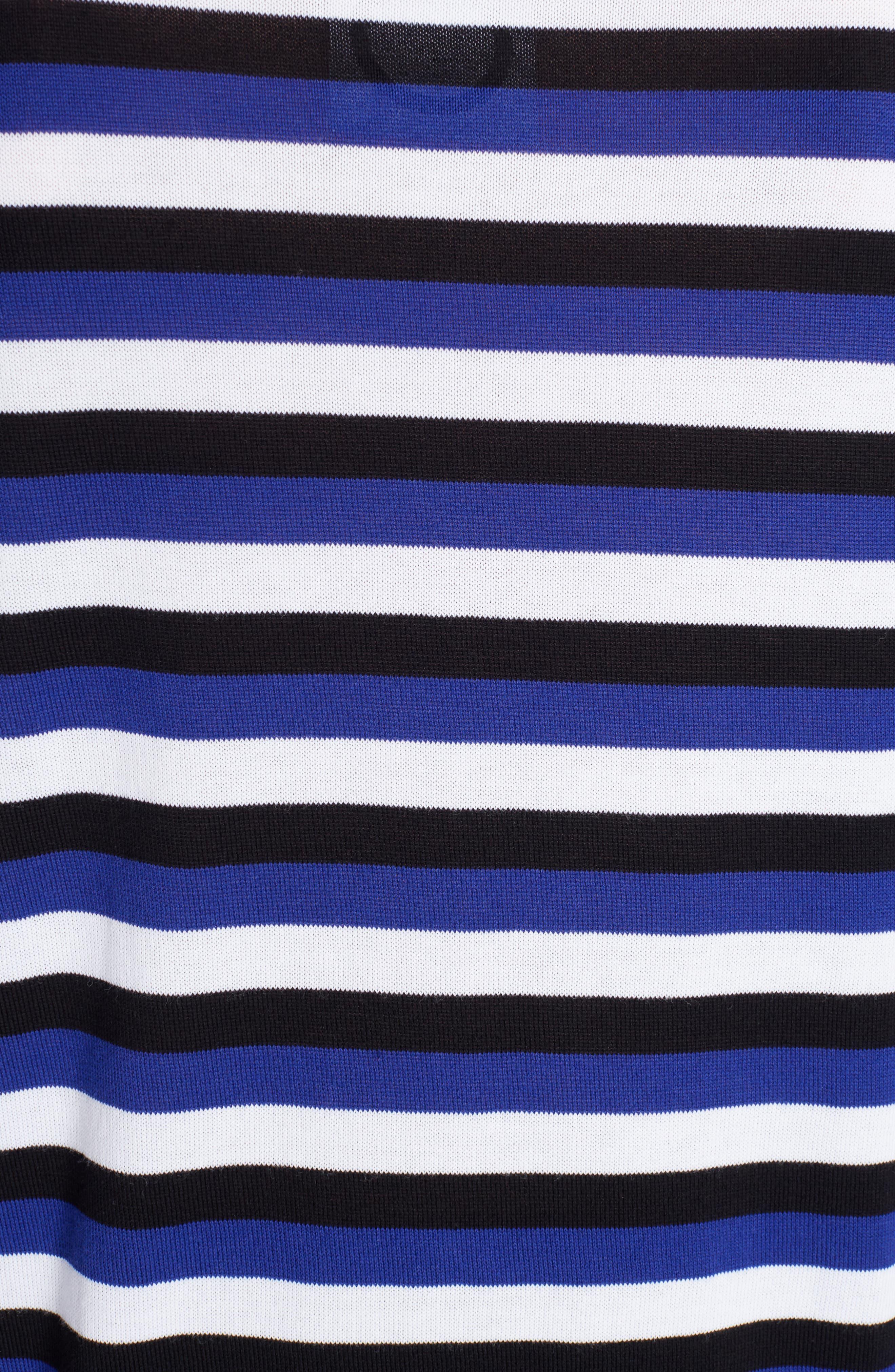 Large K Stripe Sweater,                             Alternate thumbnail 5, color,                             422