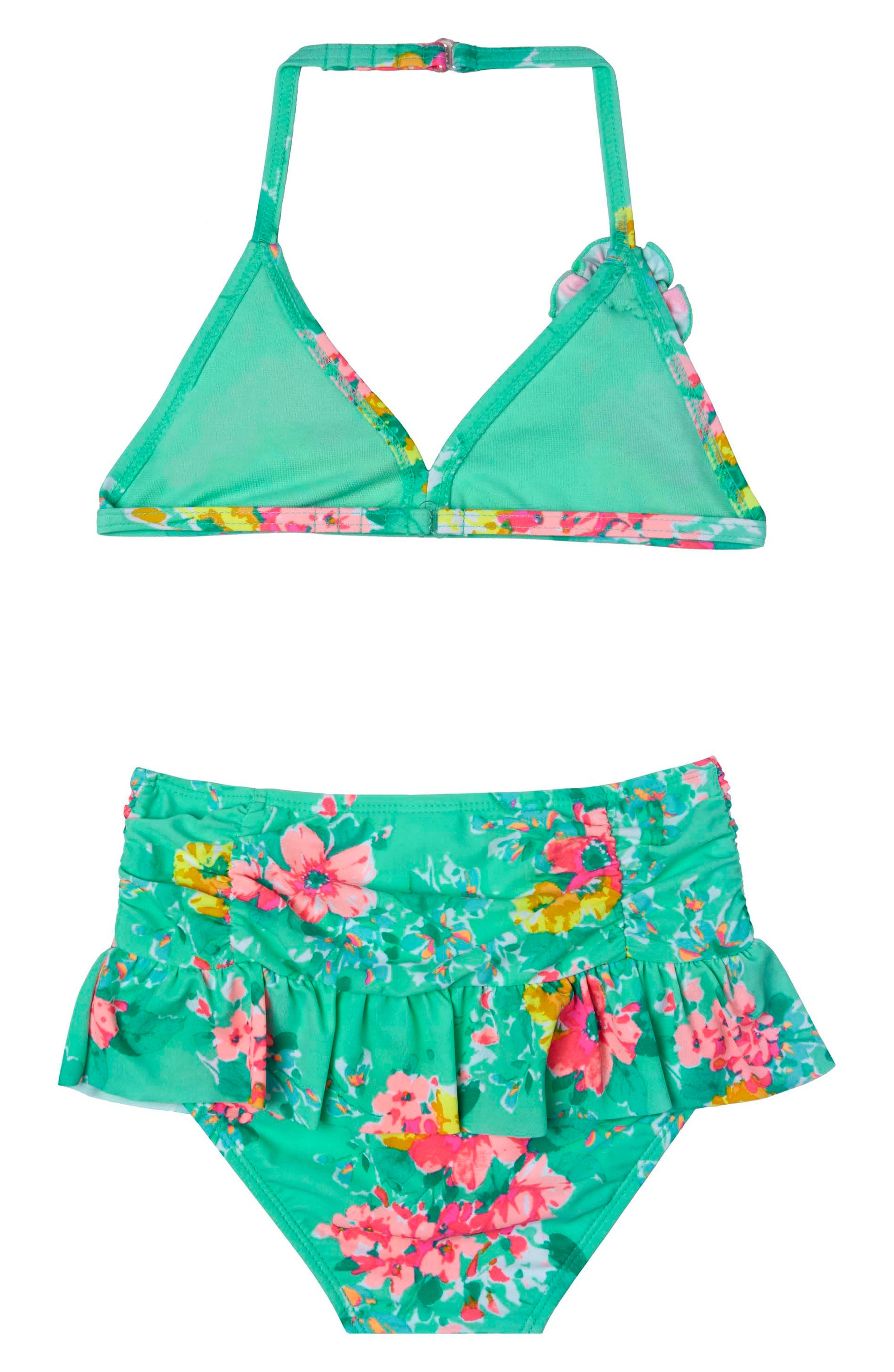 Garden Dream Two-Piece Swimsuit,                             Main thumbnail 1, color,                             308