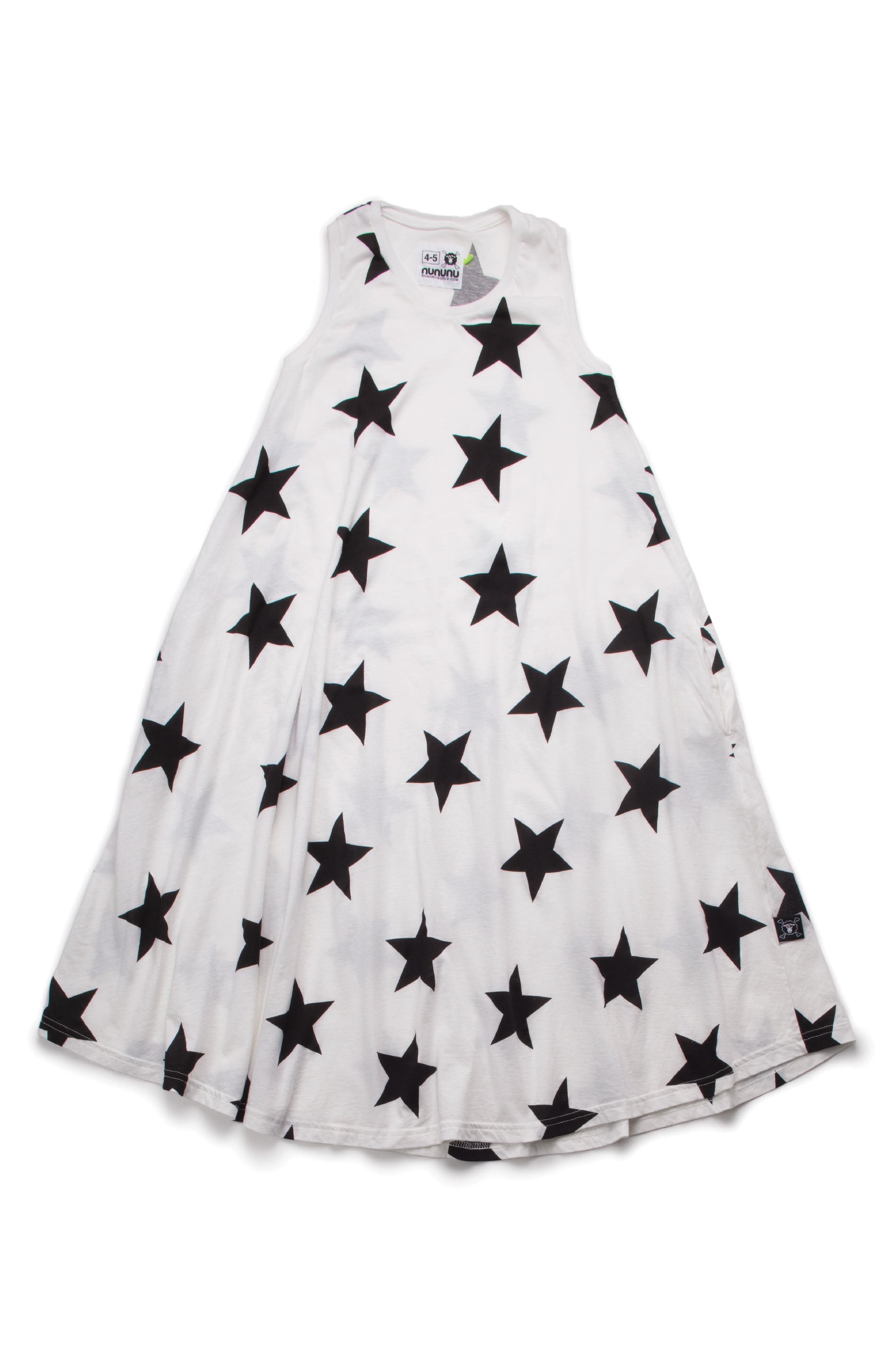 Star Trapeze Dress,                         Main,                         color, 100