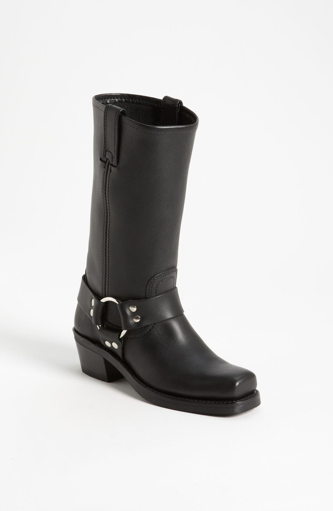 'Harness 12R' Leather Boot,                         Main,                         color, BLACK