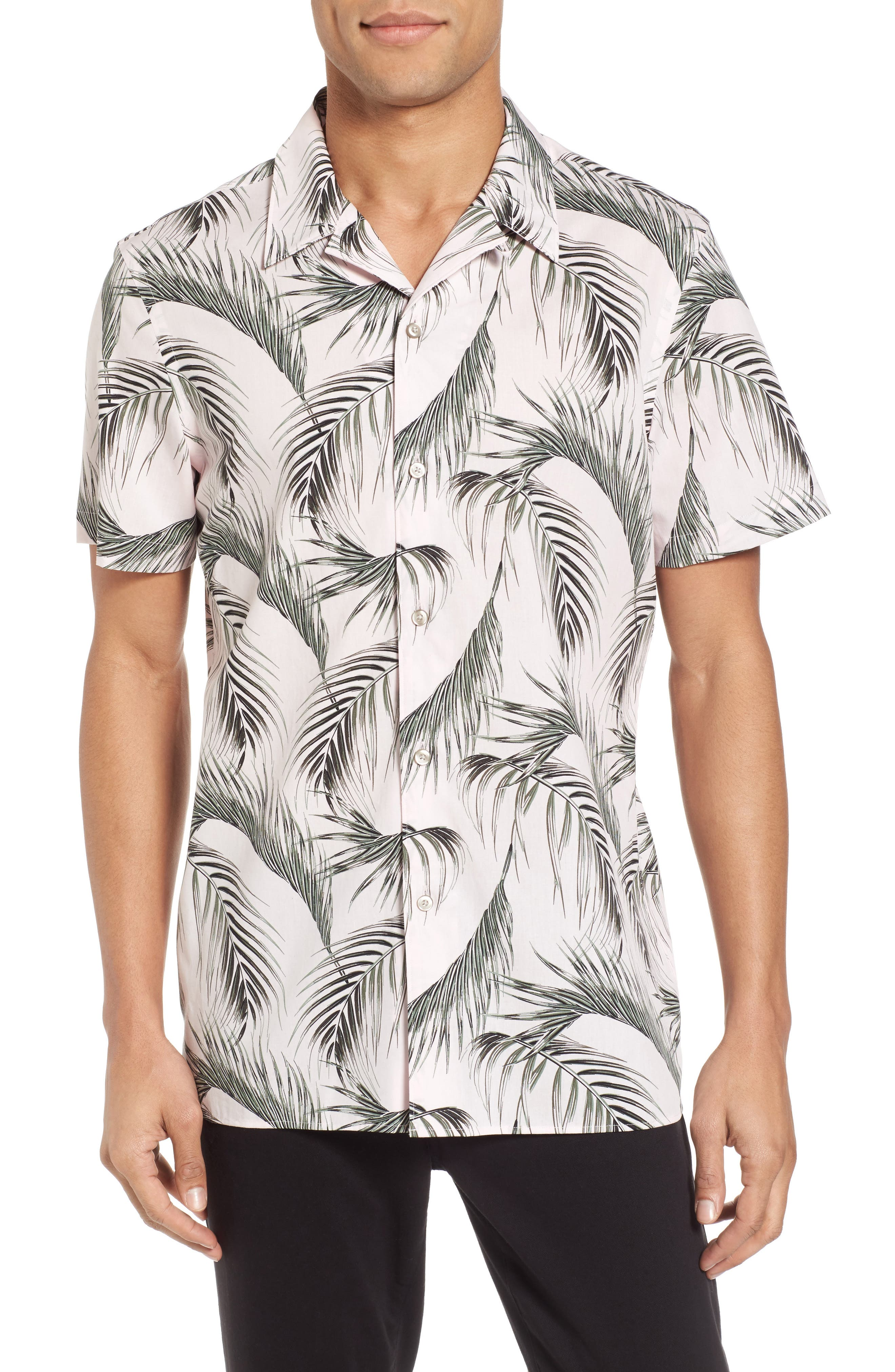 Slim Fit Short Sleeve Print Camp Shirt,                             Main thumbnail 2, color,