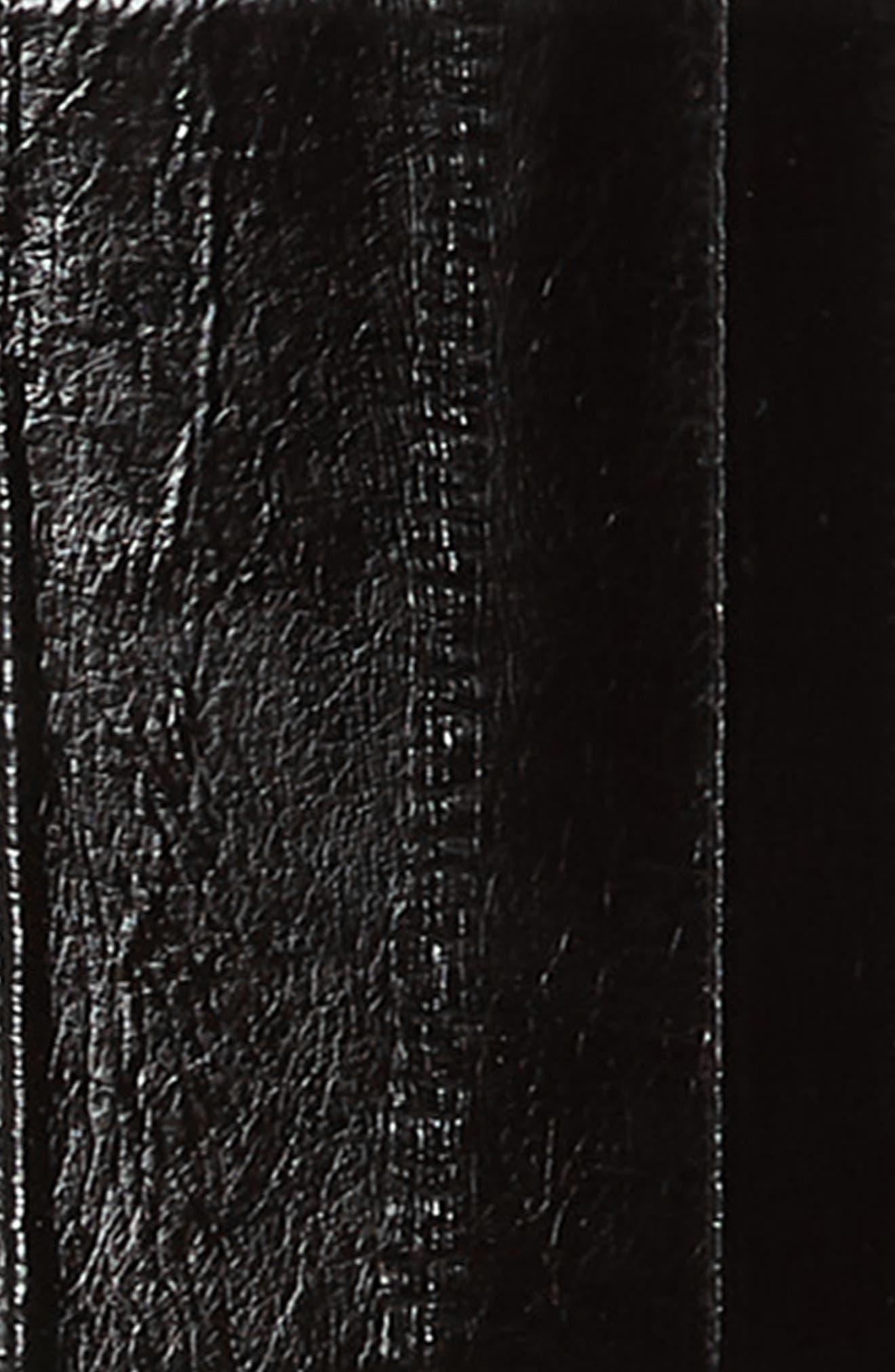 Large Corset Fine Buckle Anguille Belt,                             Alternate thumbnail 3, color,                             NOIR