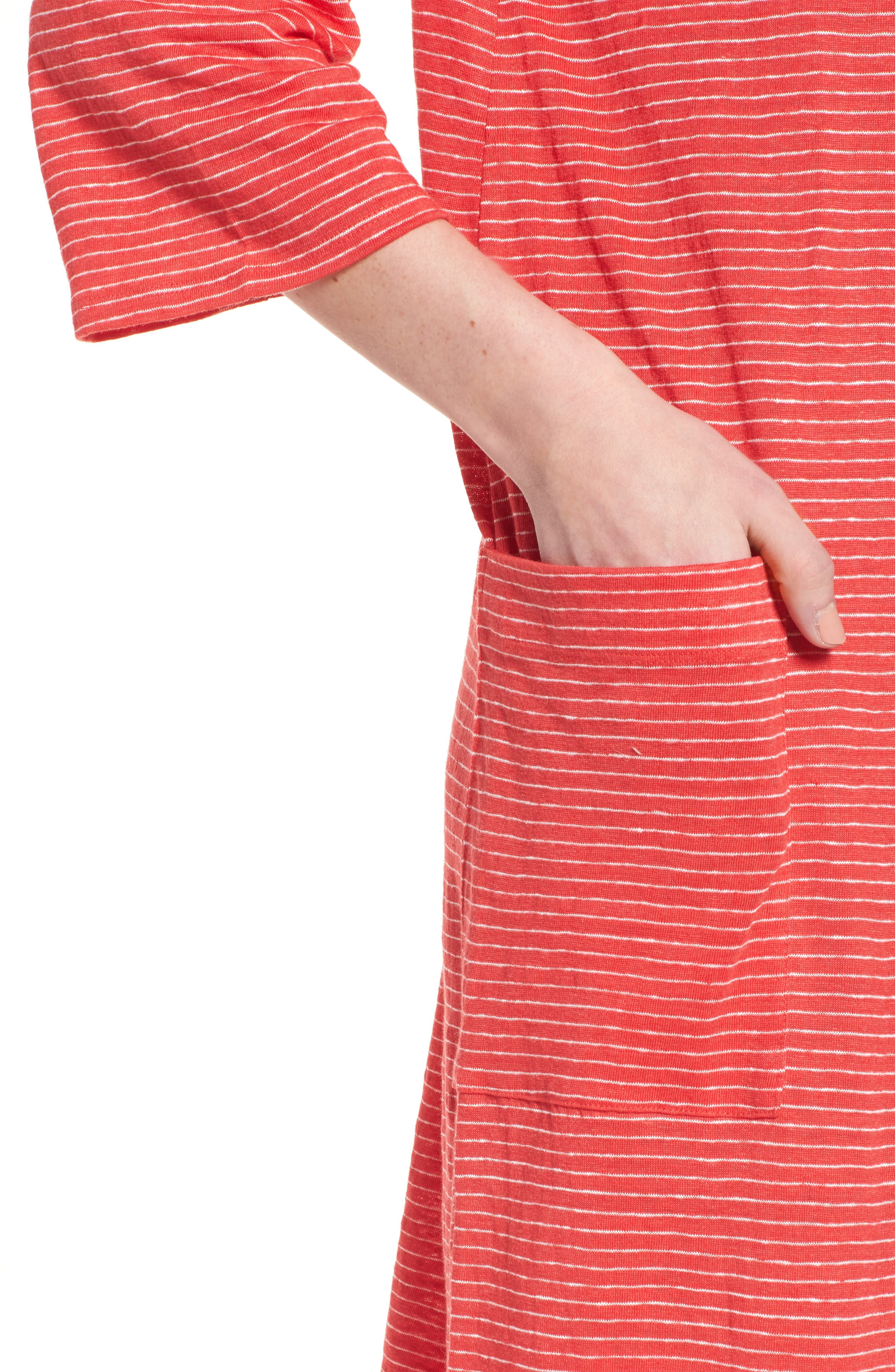 Organic Linen Shift Dress,                             Alternate thumbnail 11, color,