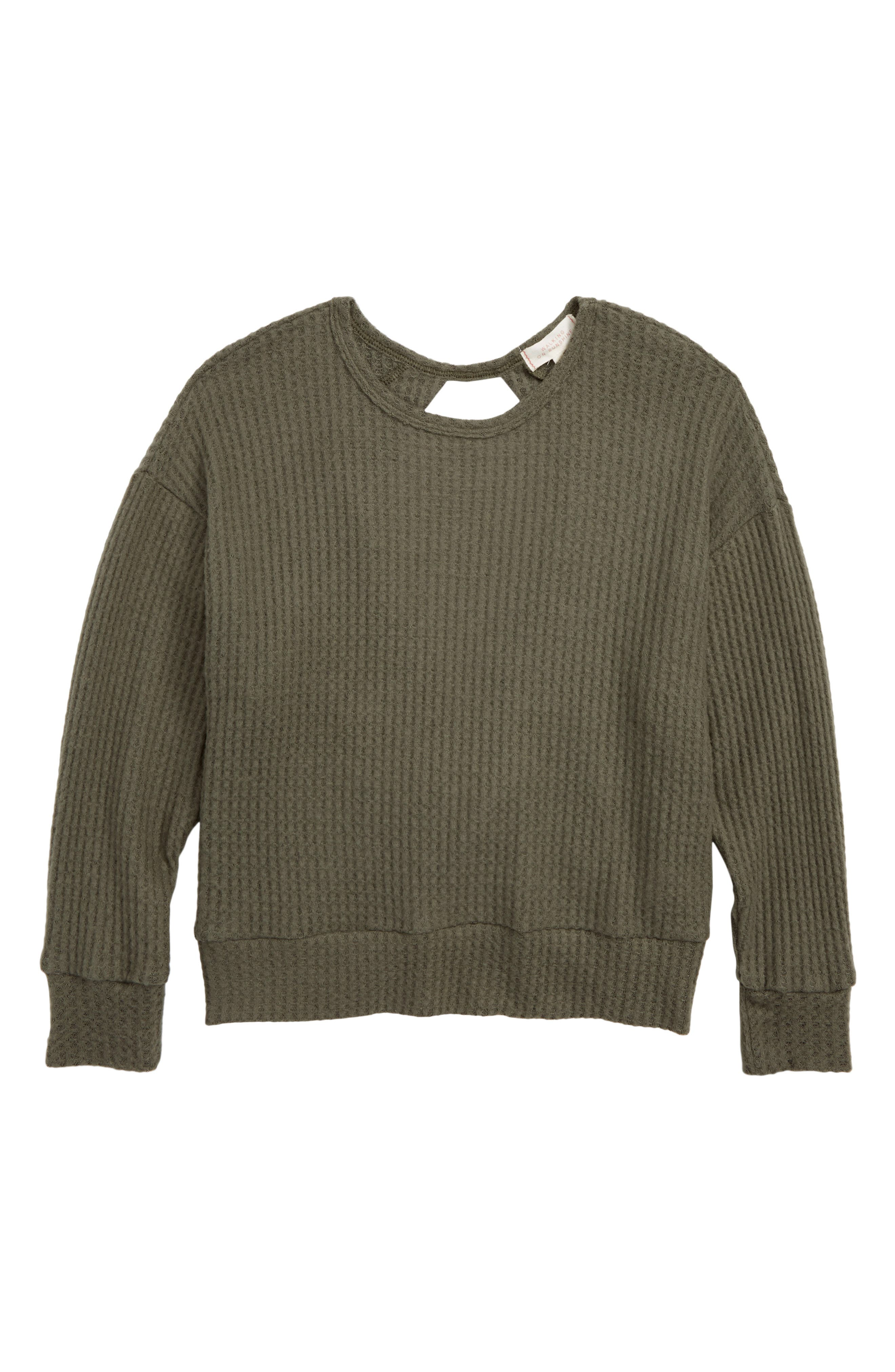 Dolman Sleeve Pullover,                         Main,                         color, OLIVE