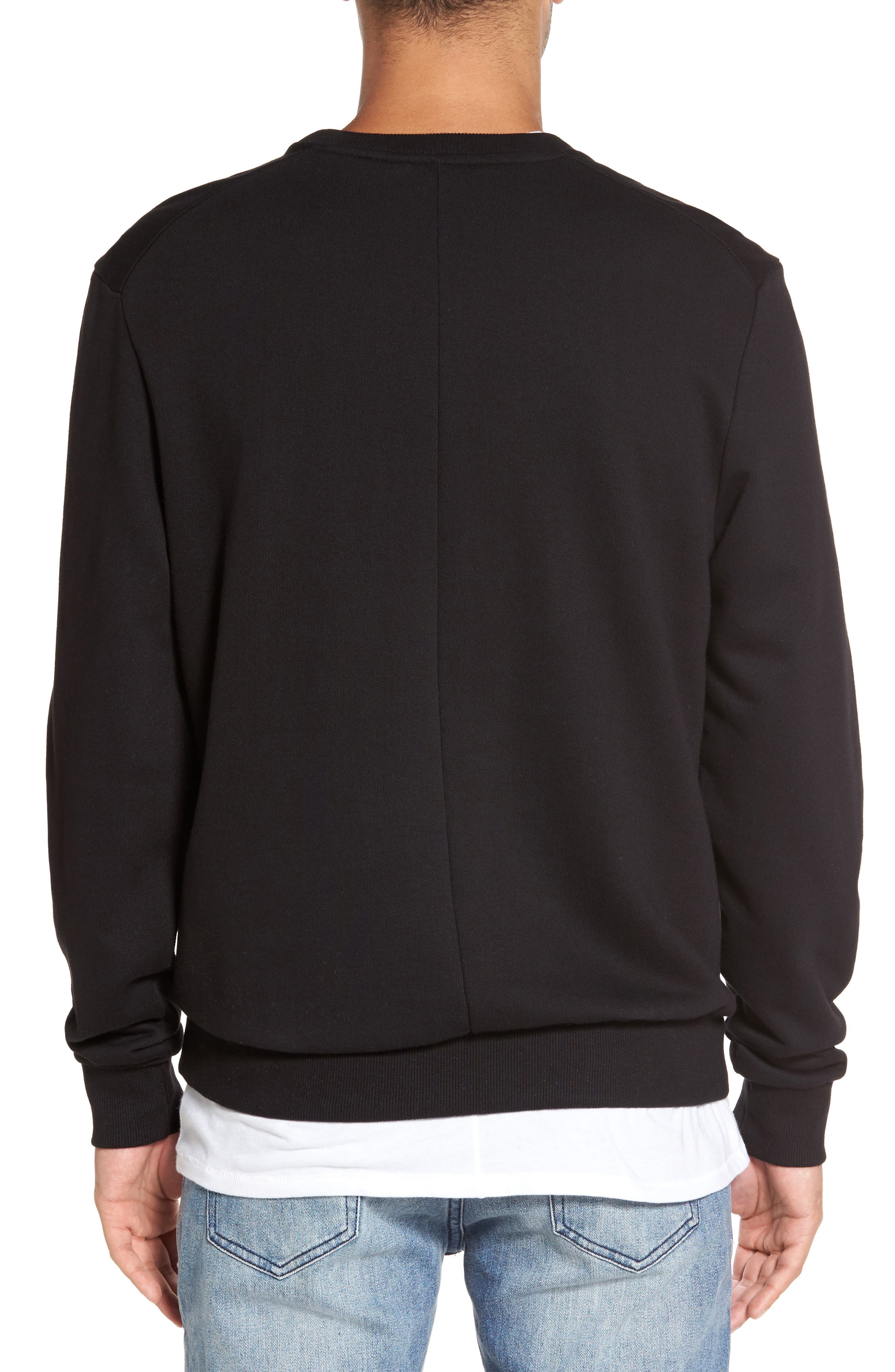 Nolan Embroidered Sweatshirt,                             Alternate thumbnail 2, color,                             001