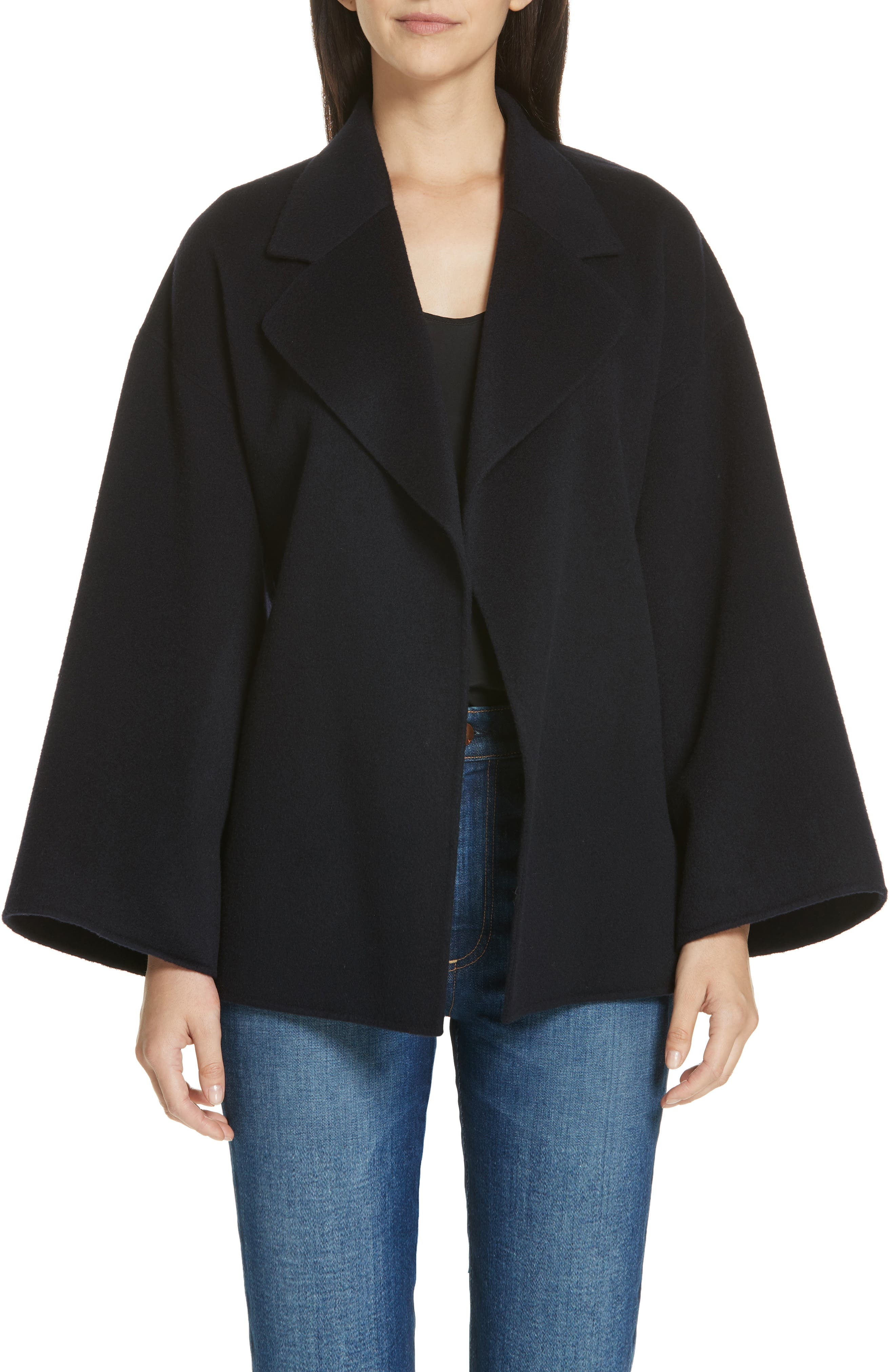 Wool & Cashmere Belted Jacket,                             Main thumbnail 1, color,                             400