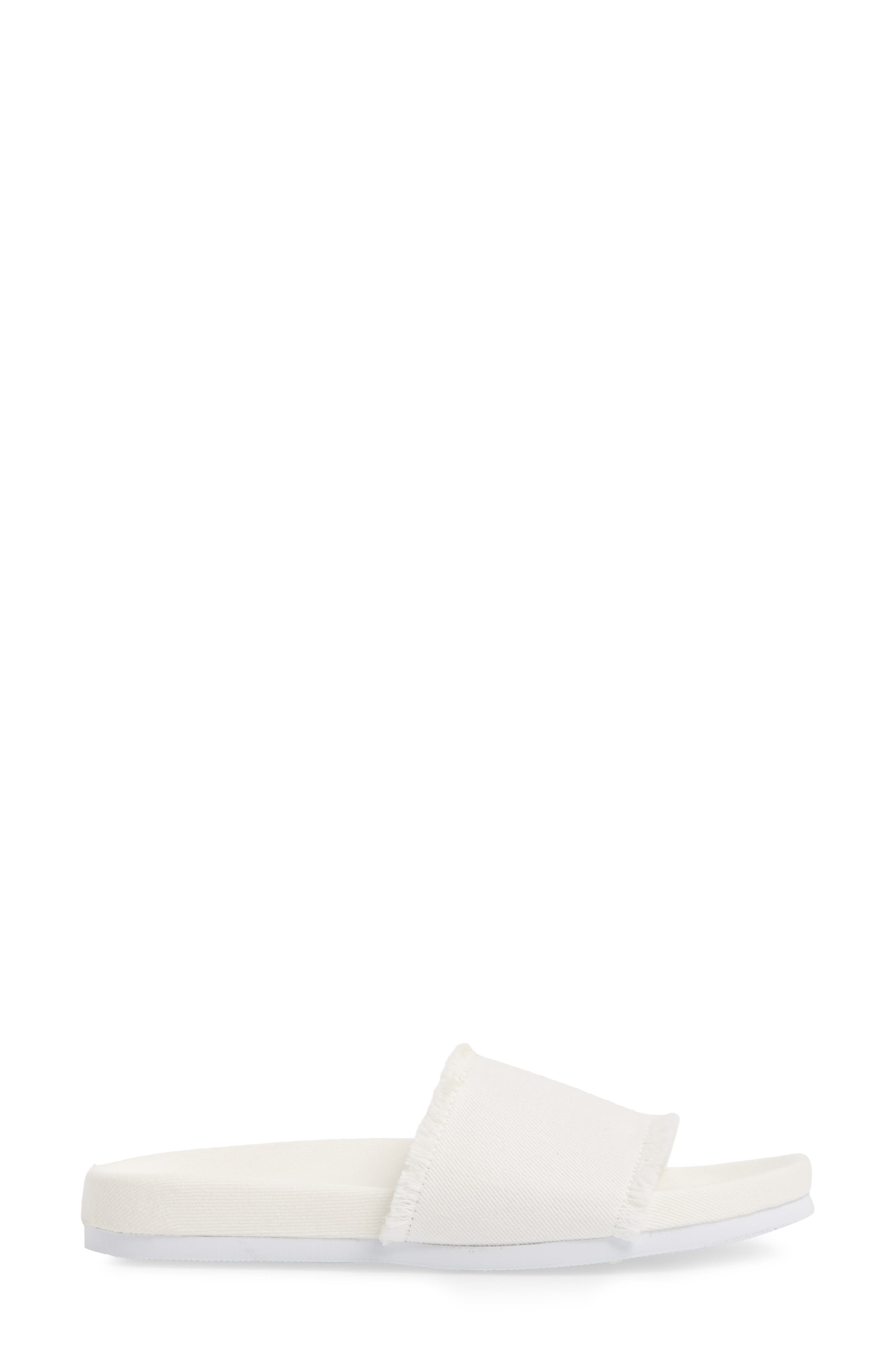 Kelsey Frayed Edge Slide Sandal,                             Alternate thumbnail 5, color,