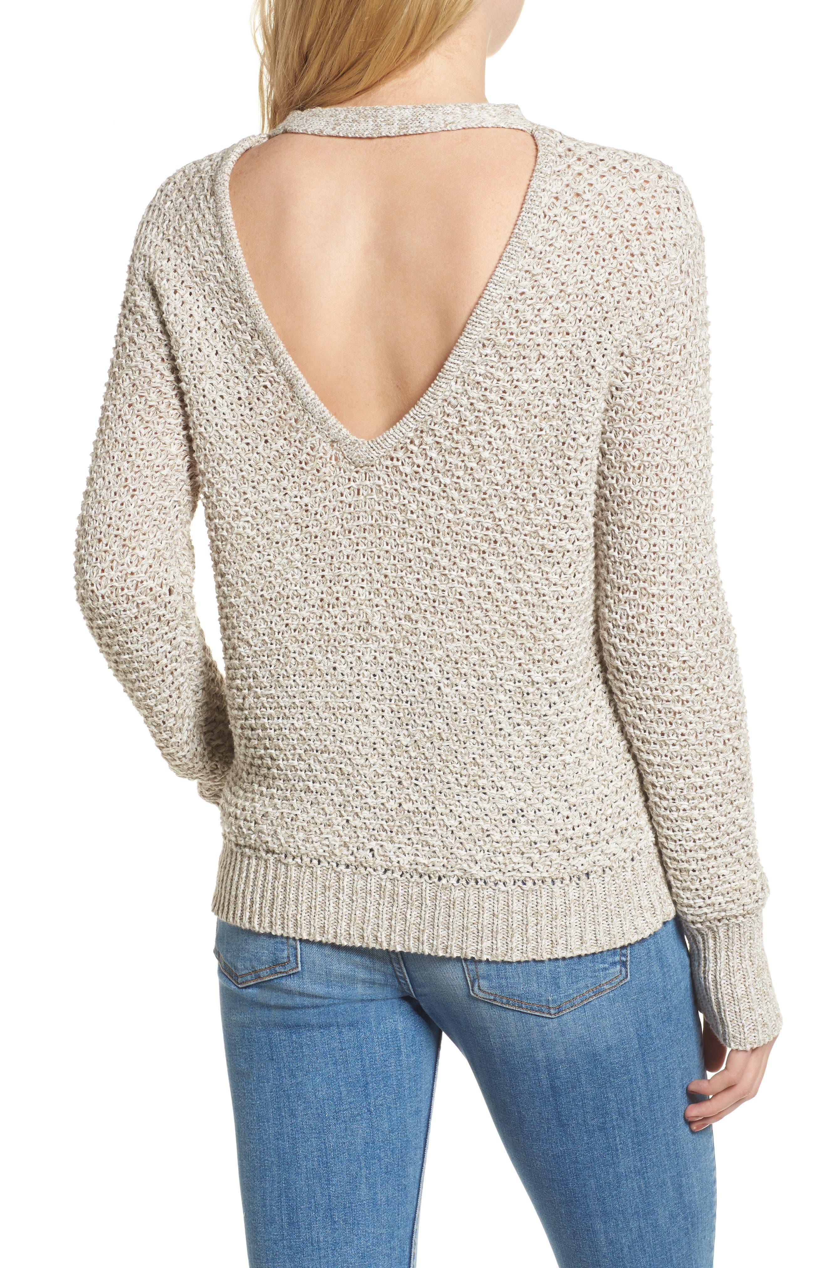 Mélange Open Back Sweater,                             Alternate thumbnail 2, color,                             238