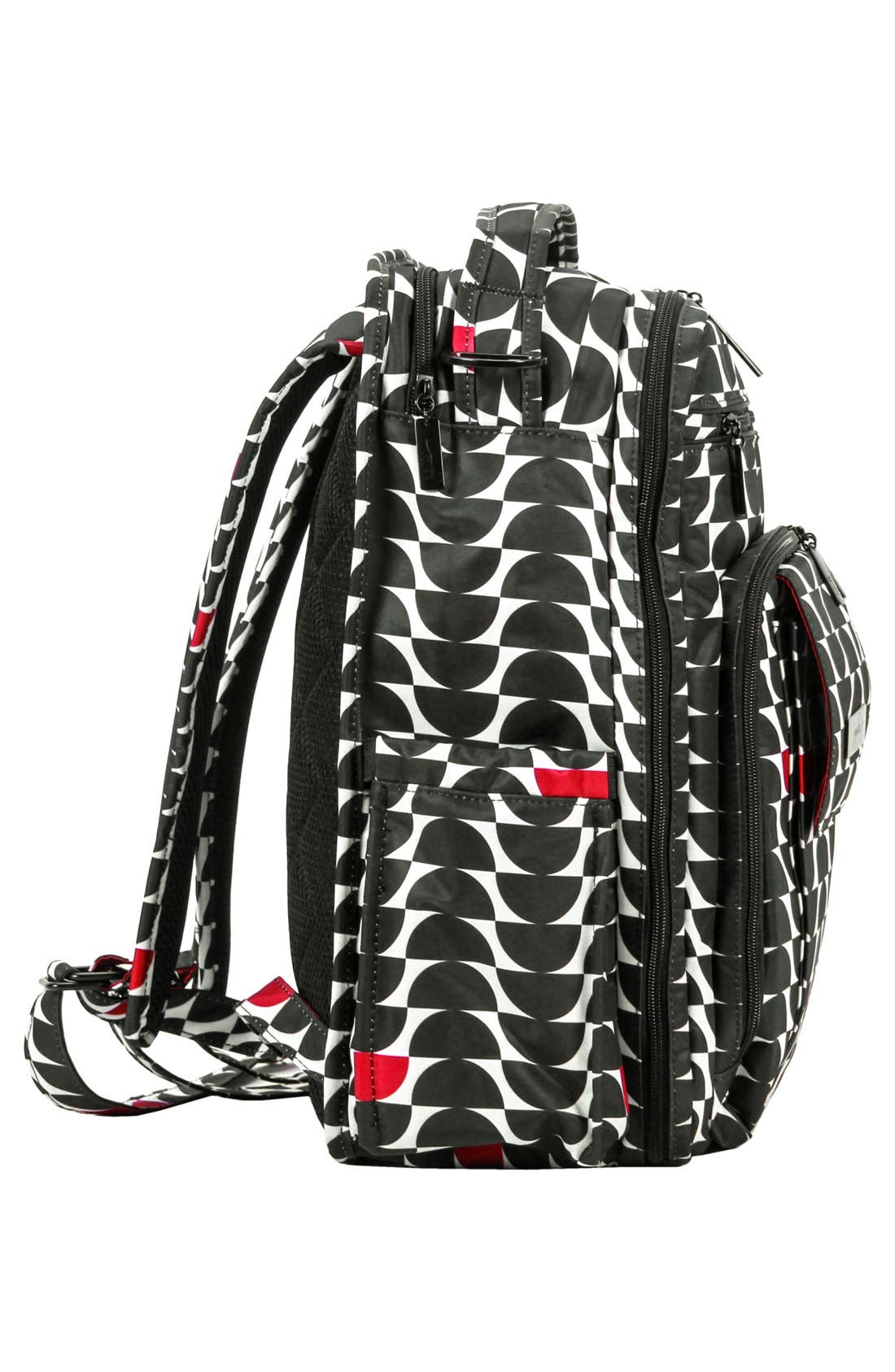 'Be Right Back' Diaper Backpack,                             Alternate thumbnail 7, color,                             BLACK WIDOW