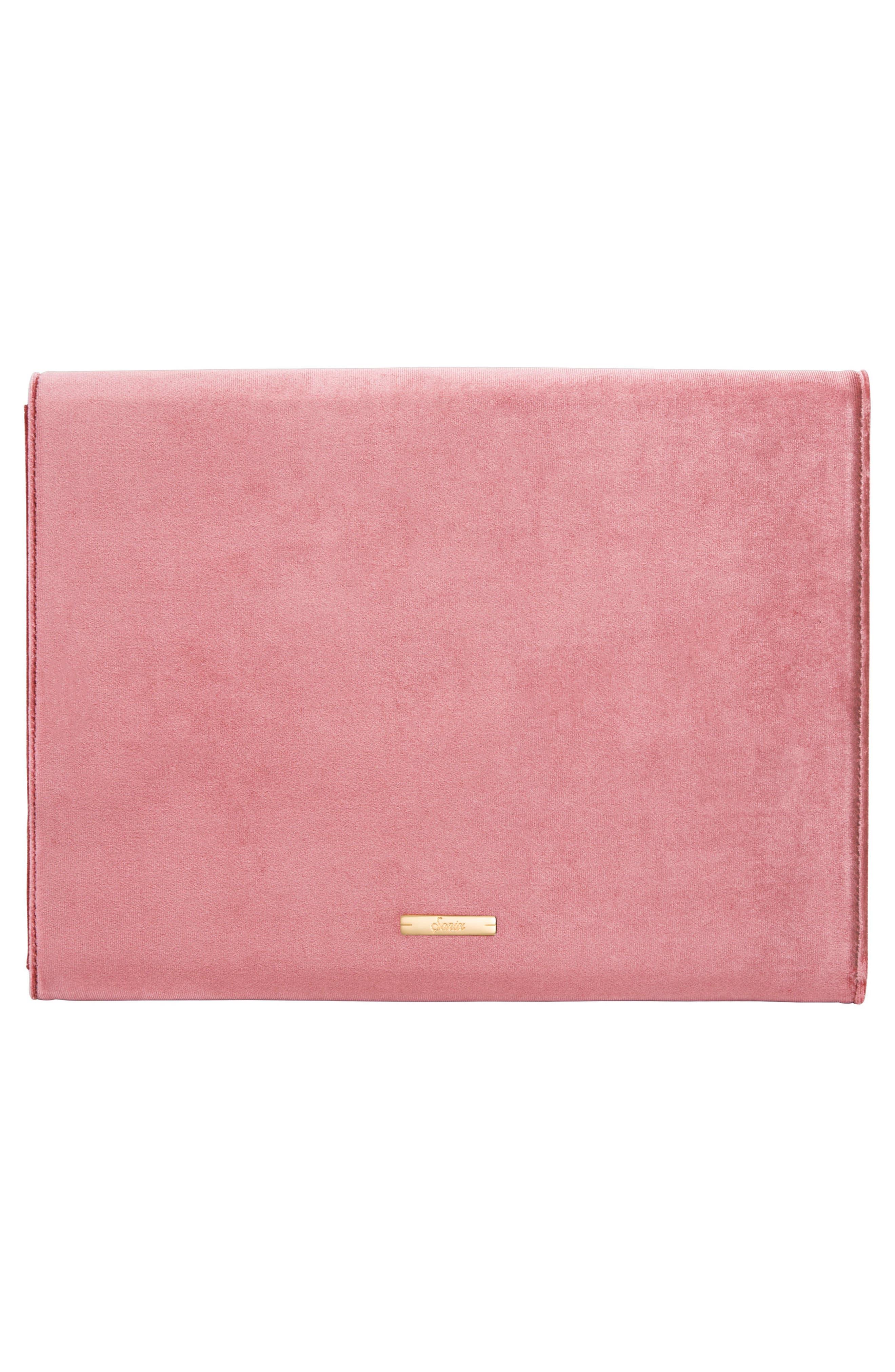 Rose Velvet Laptop Clutch,                             Alternate thumbnail 2, color,                             650