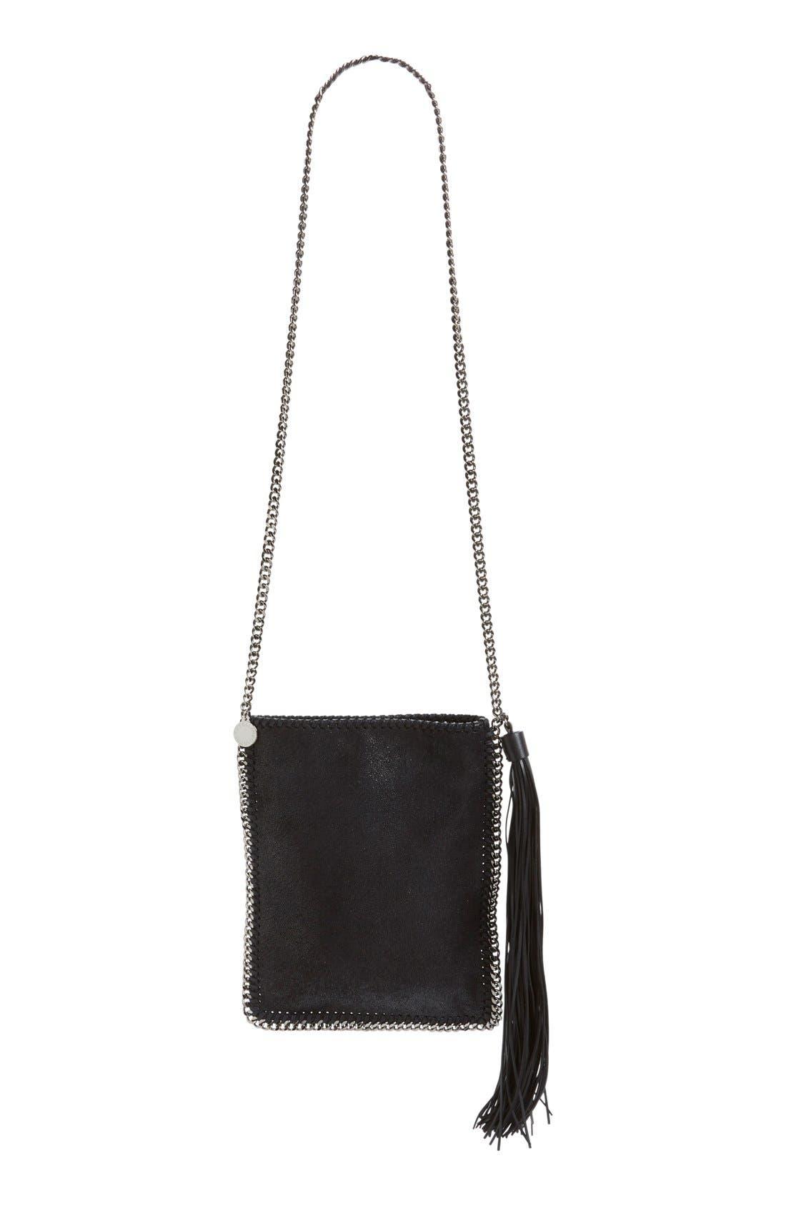 'Falabella' Faux Leather Shoulder Bag,                             Main thumbnail 1, color,                             001