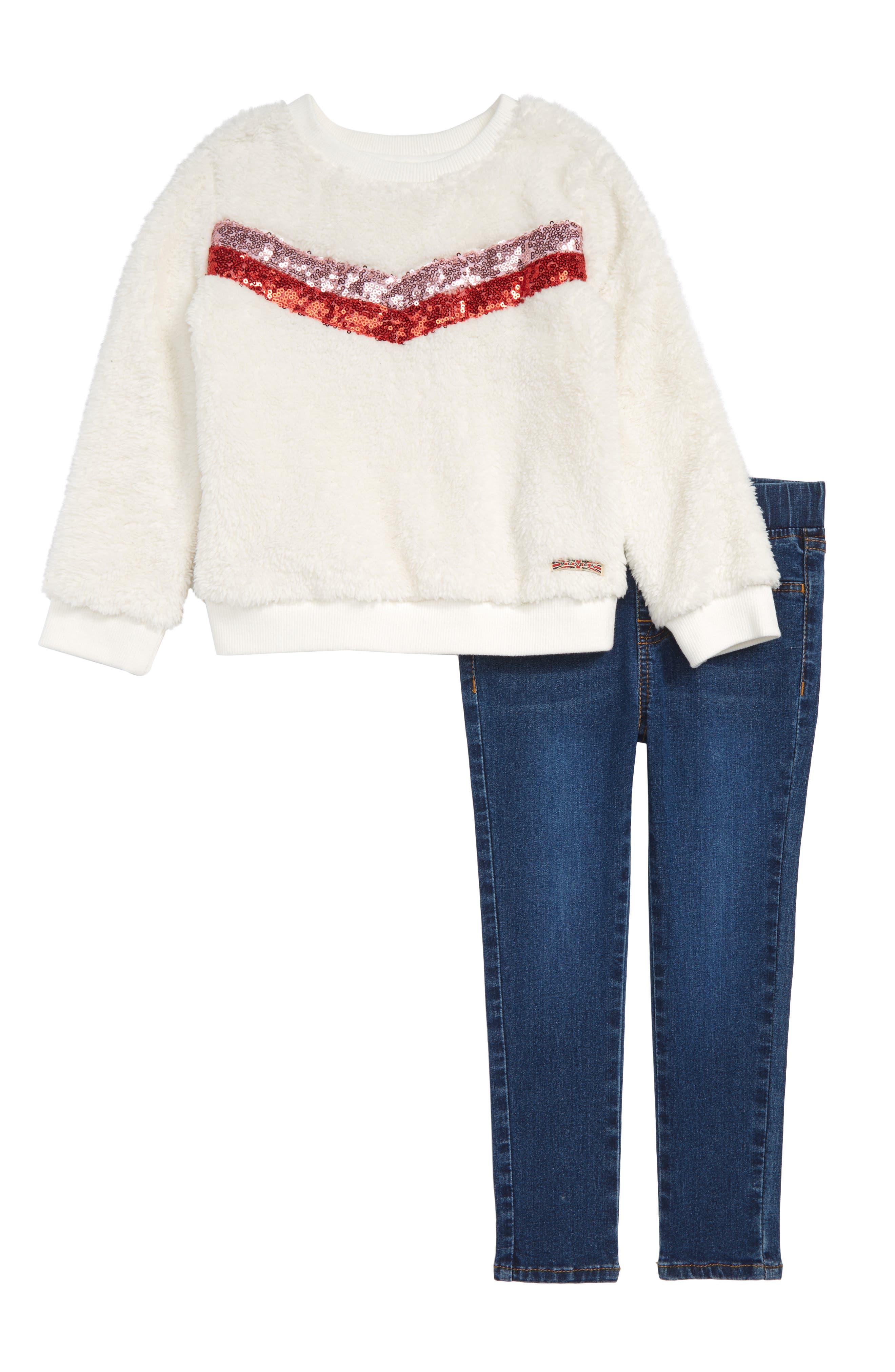 Sweatshirt & Jeans Set,                             Main thumbnail 1, color,                             DCG-DEPTH CHARGE WASH