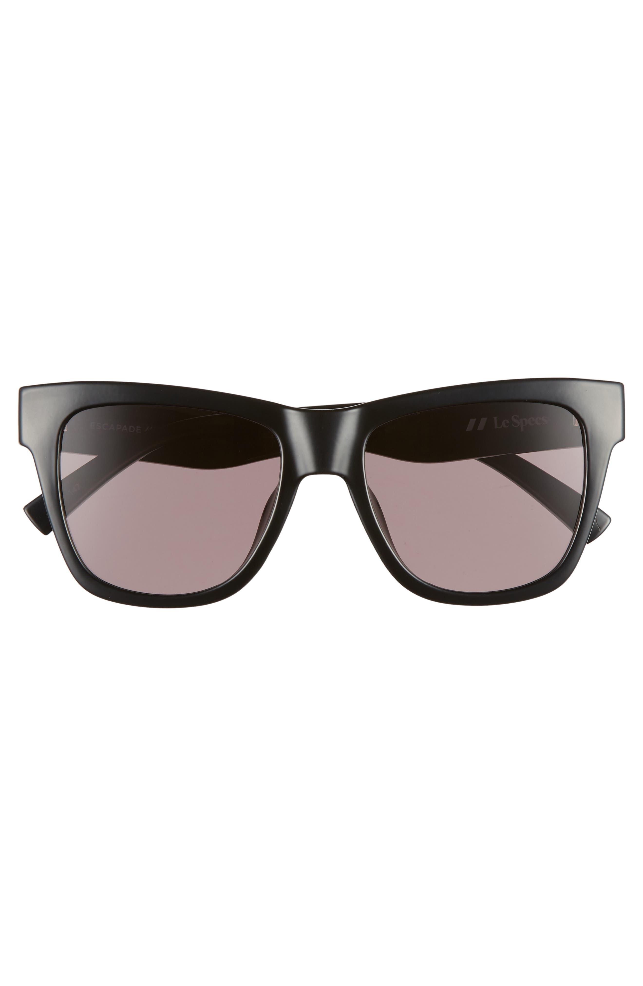 Escapade 54mm Sunglasses,                             Alternate thumbnail 3, color,                             BLACK