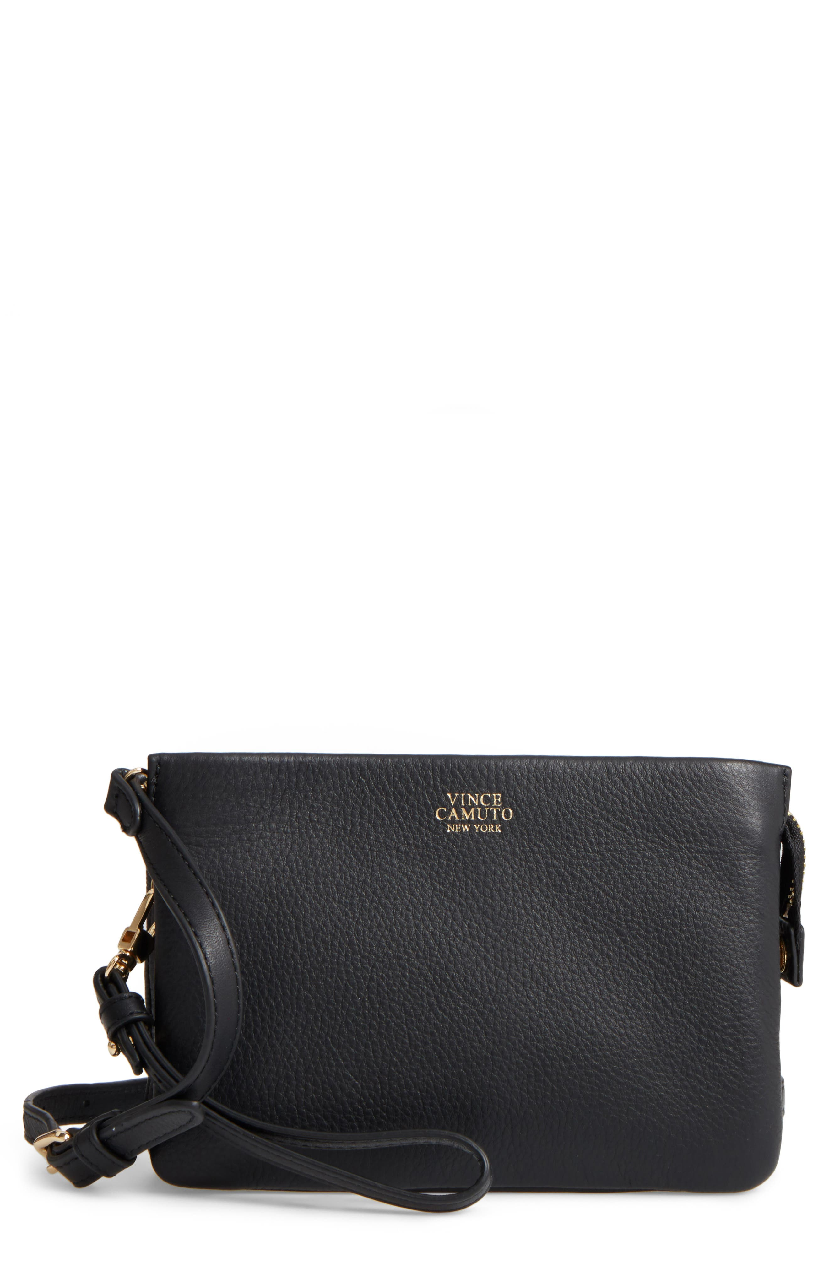 'Cami' Leather Crossbody Bag,                         Main,                         color, 001