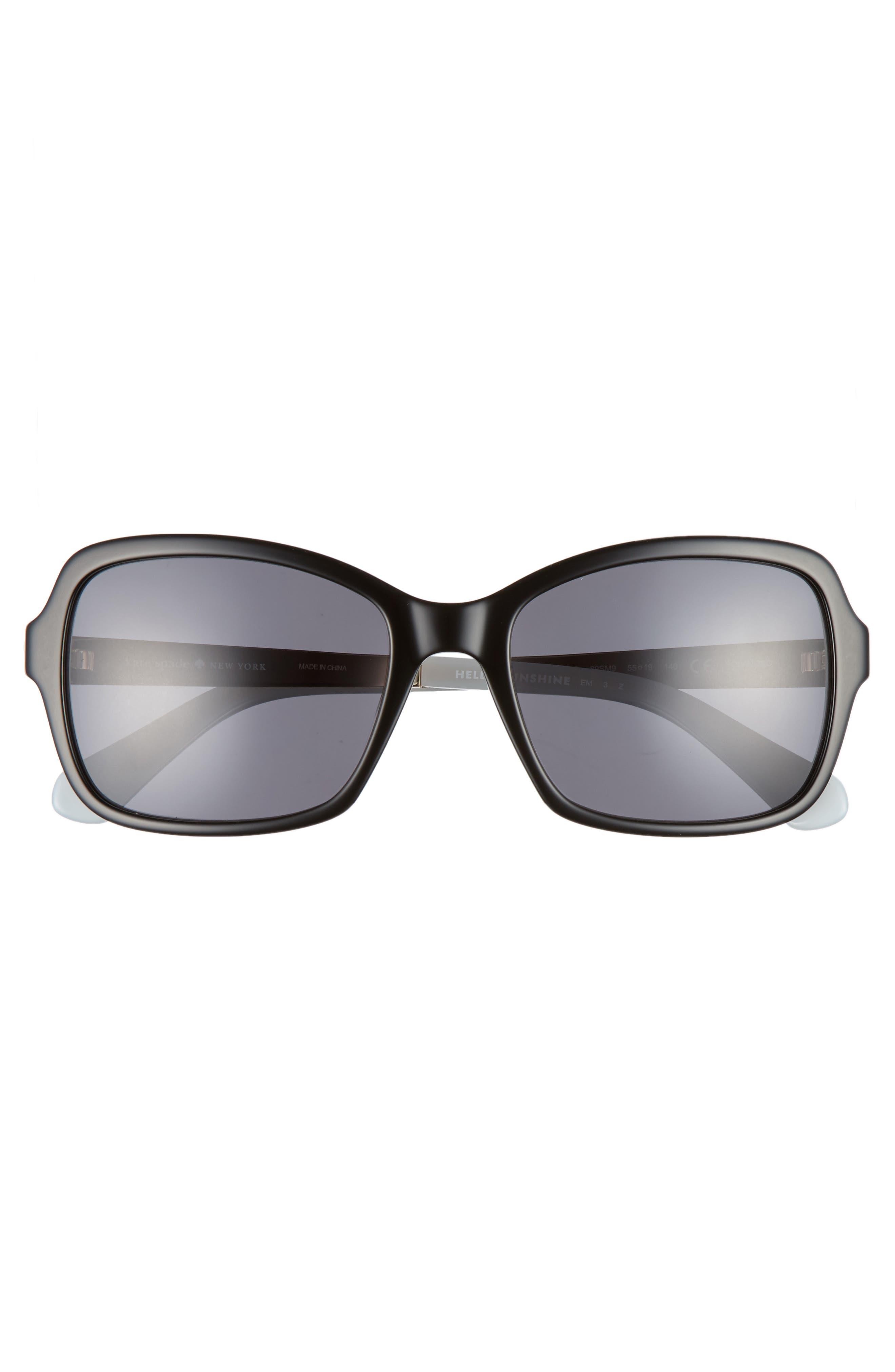 annjanette 55mm polarized sunglasses,                             Alternate thumbnail 3, color,                             BLACK