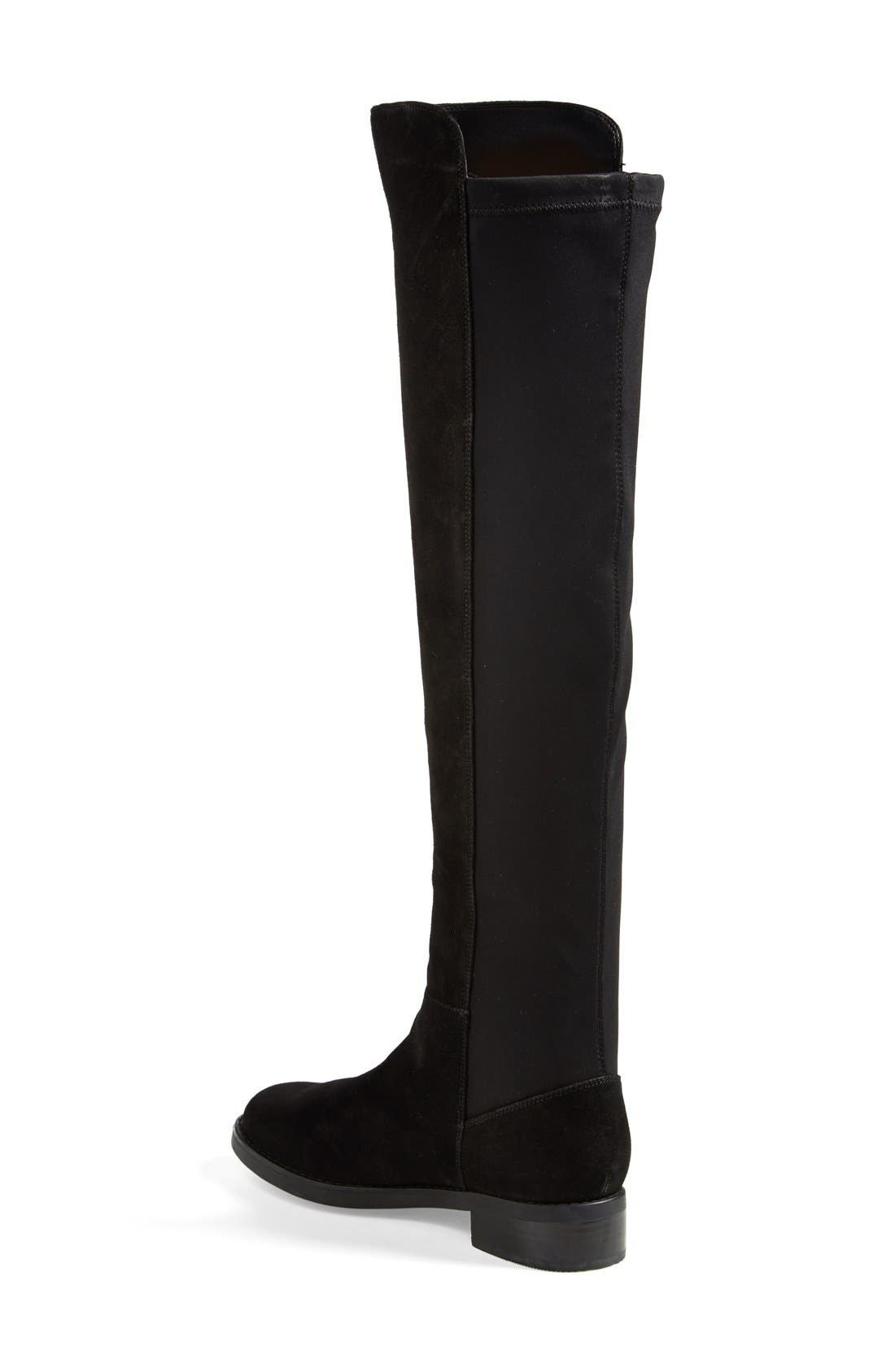 BLONDO,                             'Eden' Over the Knee Waterproof Boot,                             Alternate thumbnail 3, color,                             001