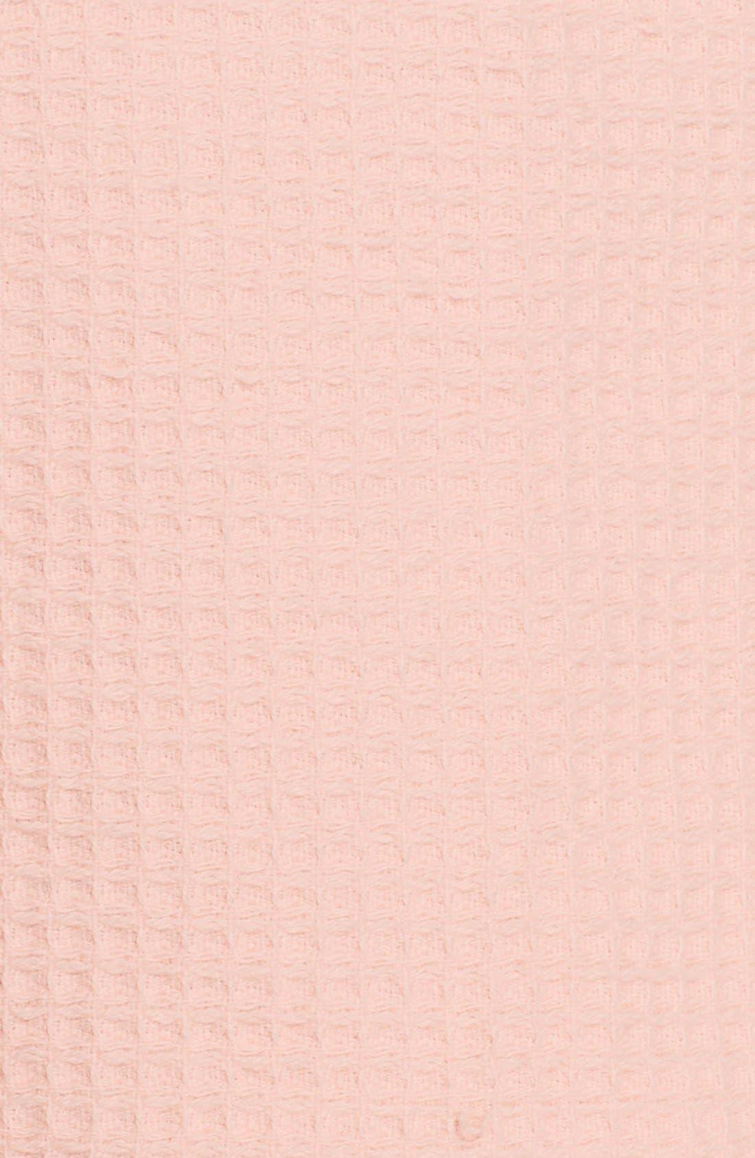 Waffle Knit Short Robe,                             Alternate thumbnail 6, color,