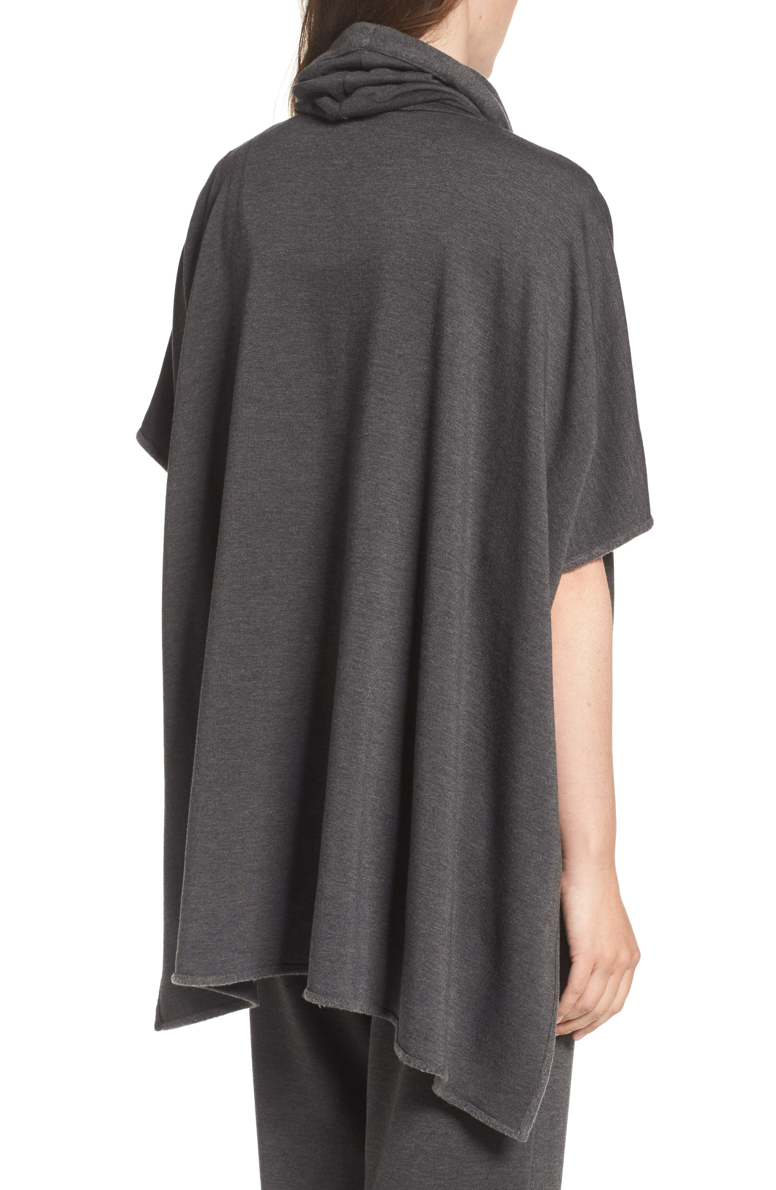 Brushed Jersey Poncho,                             Alternate thumbnail 4, color,