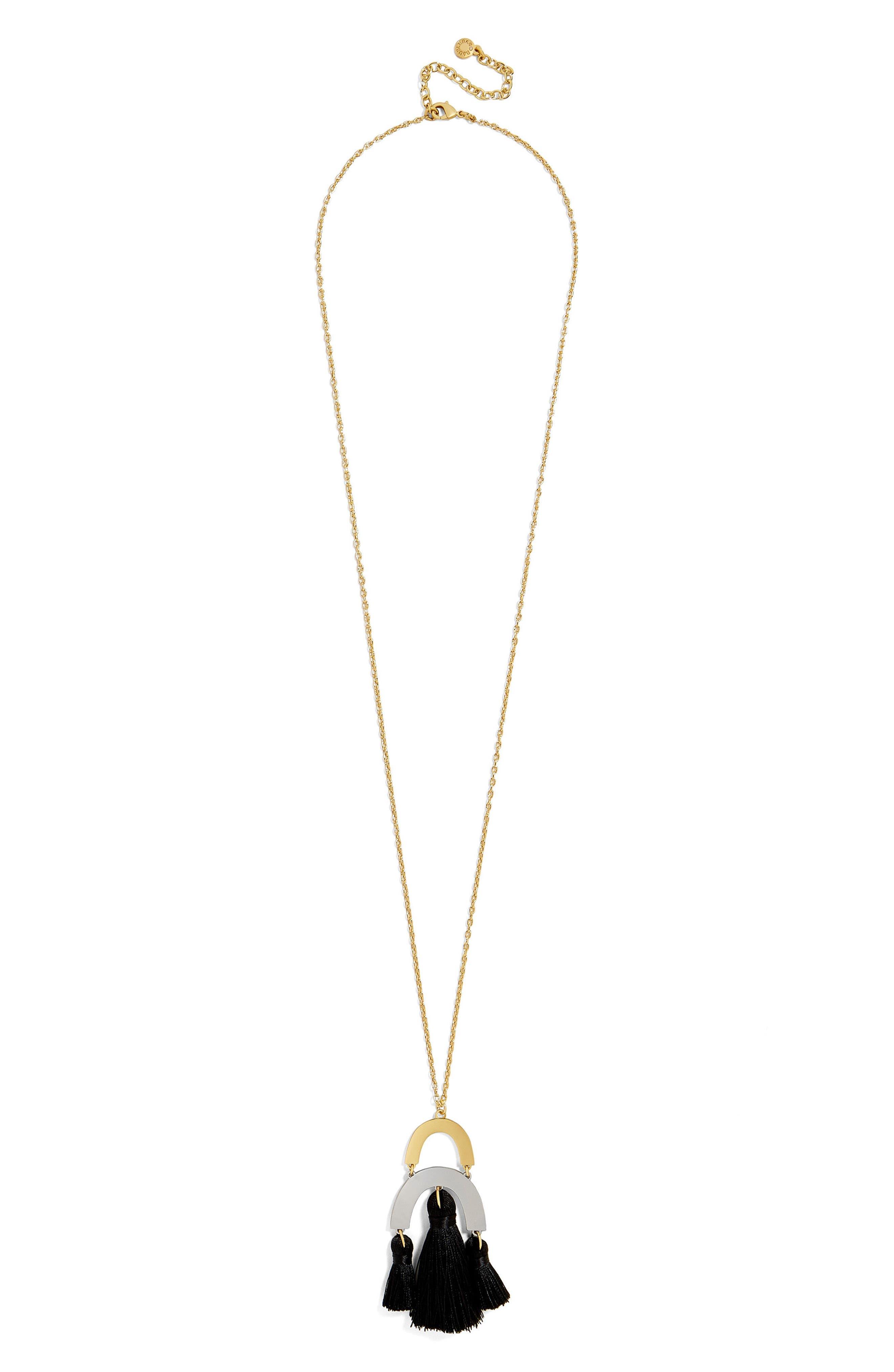 BuableBar Shamia Tassel Pendant Necklace,                             Alternate thumbnail 2, color,                             001