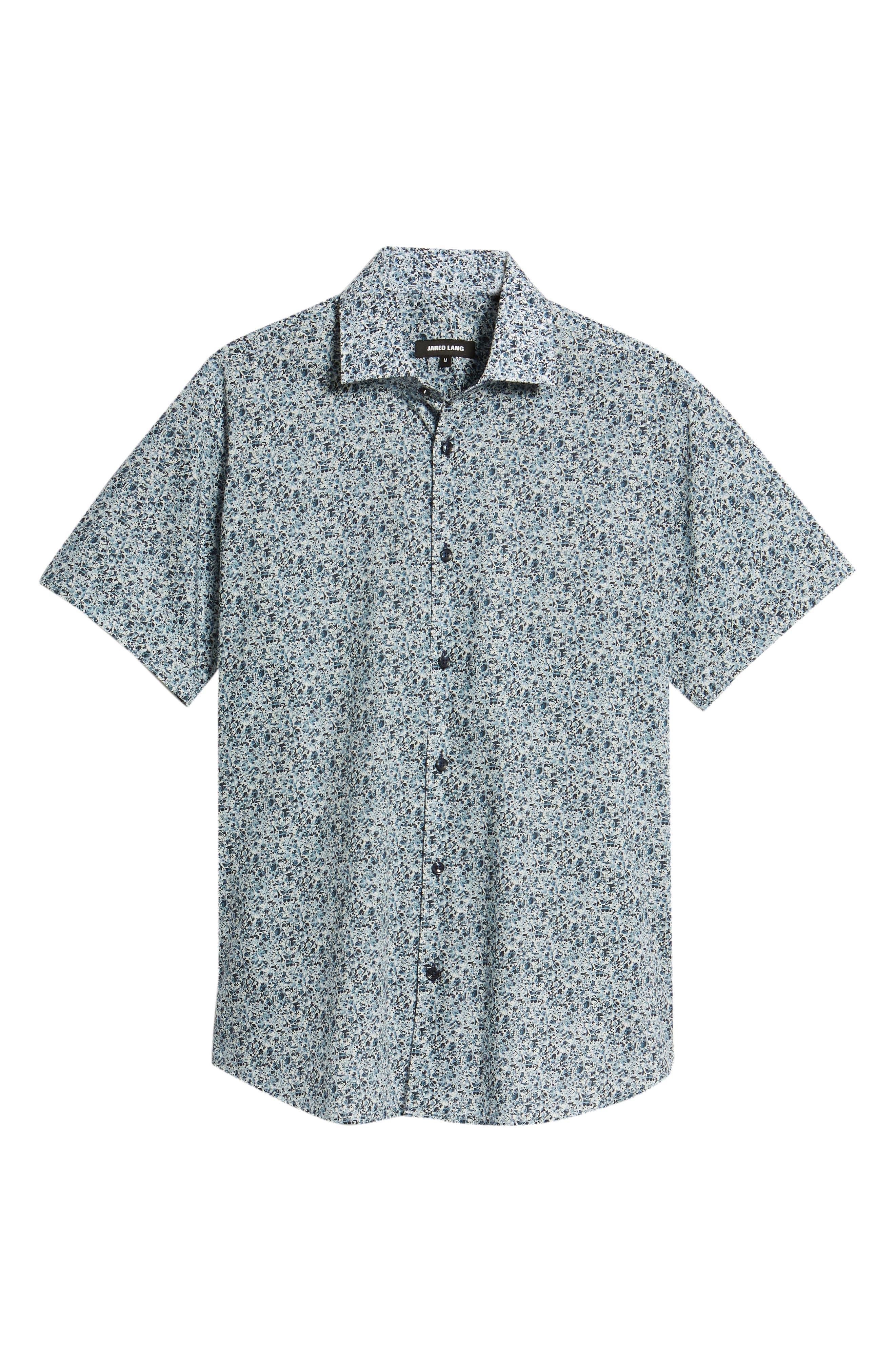 Speckle Print Sport Shirt,                             Alternate thumbnail 6, color,                             BLUE SPECKLE