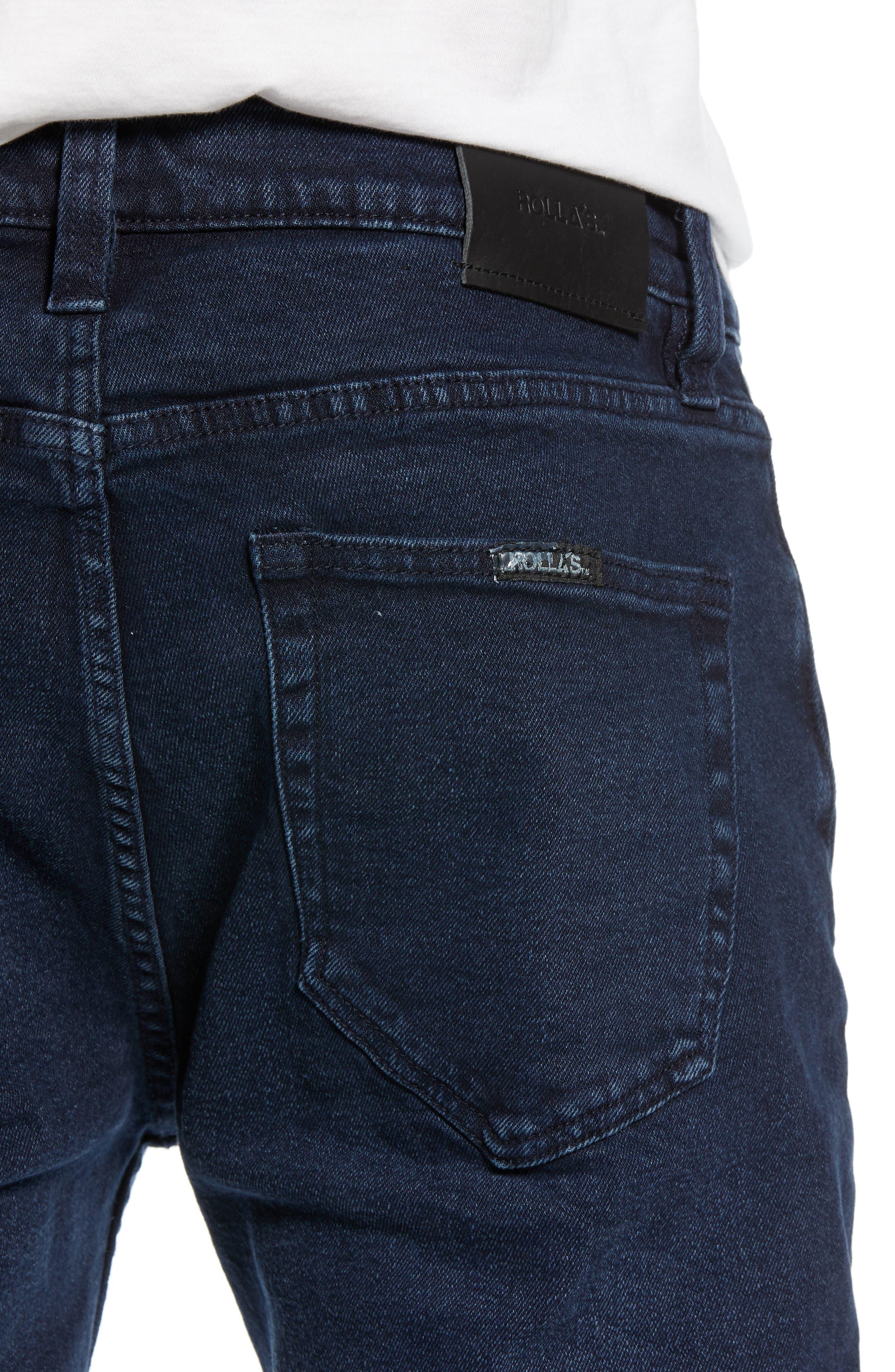 Stinger Skinny Fit Jeans,                             Alternate thumbnail 4, color,                             STONE FREE BLUE