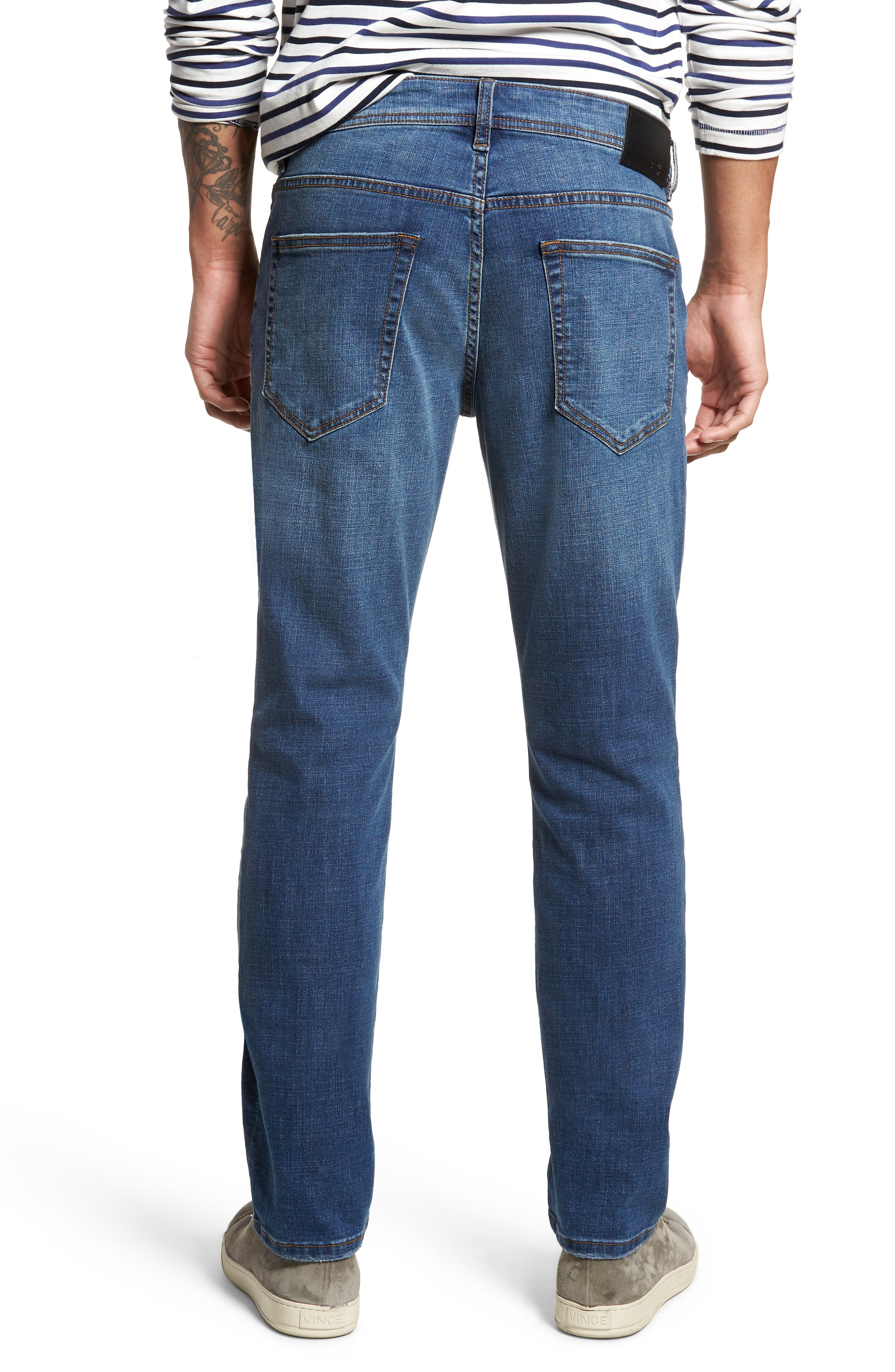 Jeans Co. Kingston Slim Straight Leg Jeans,                             Alternate thumbnail 2, color,                             HIGHLANDER MID