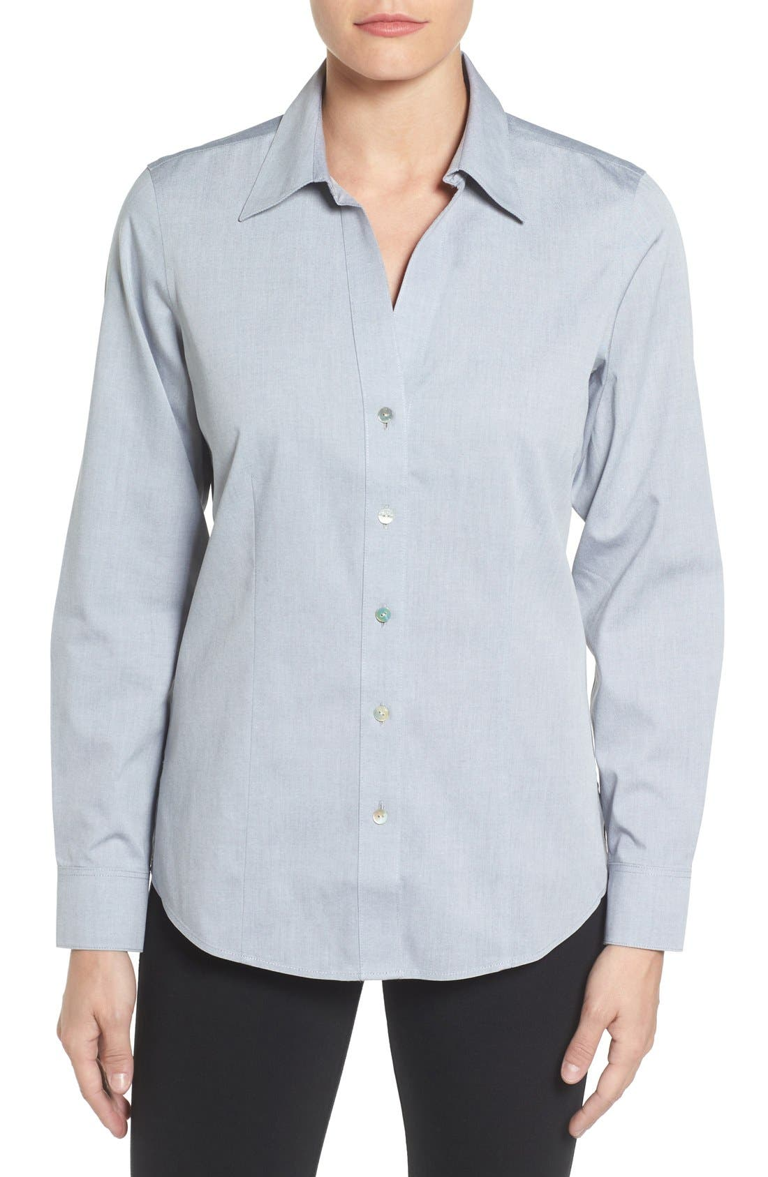 Non-Iron Fitted Shirt,                             Main thumbnail 2, color,