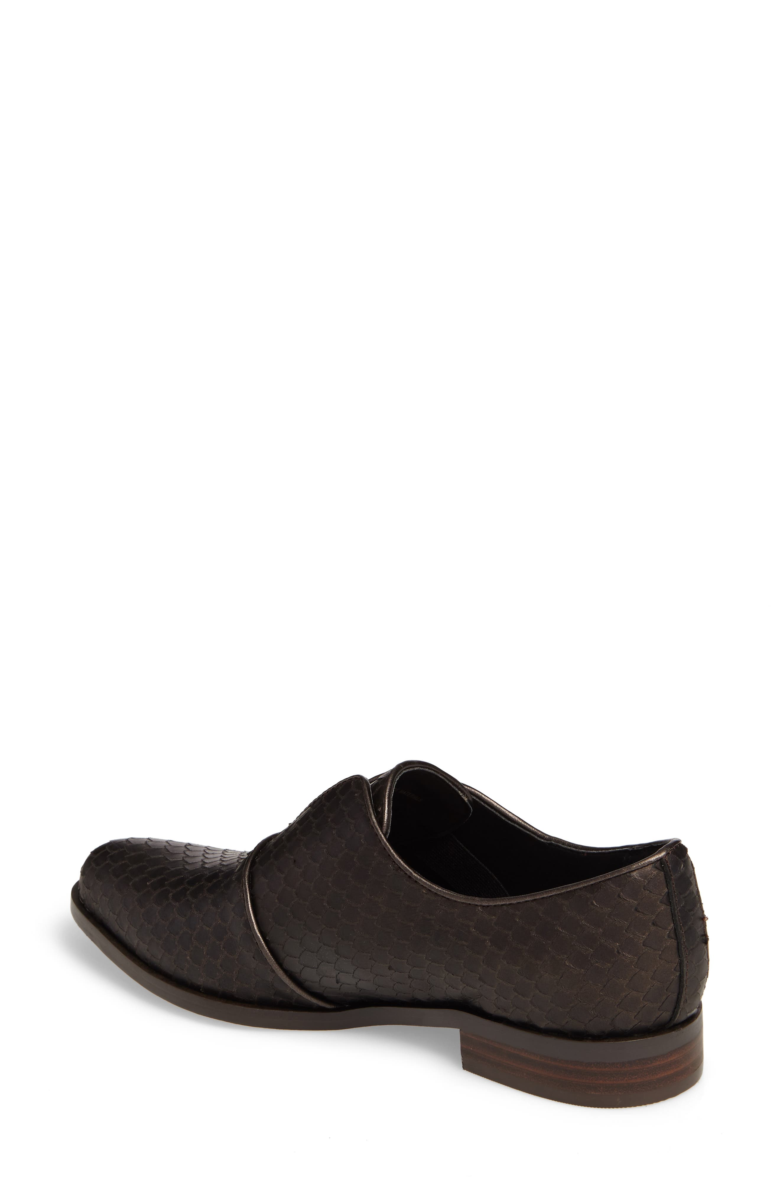 Isola Maria Slip-On Oxford,                             Alternate thumbnail 2, color,                             T. MORO BROWN LEATHER