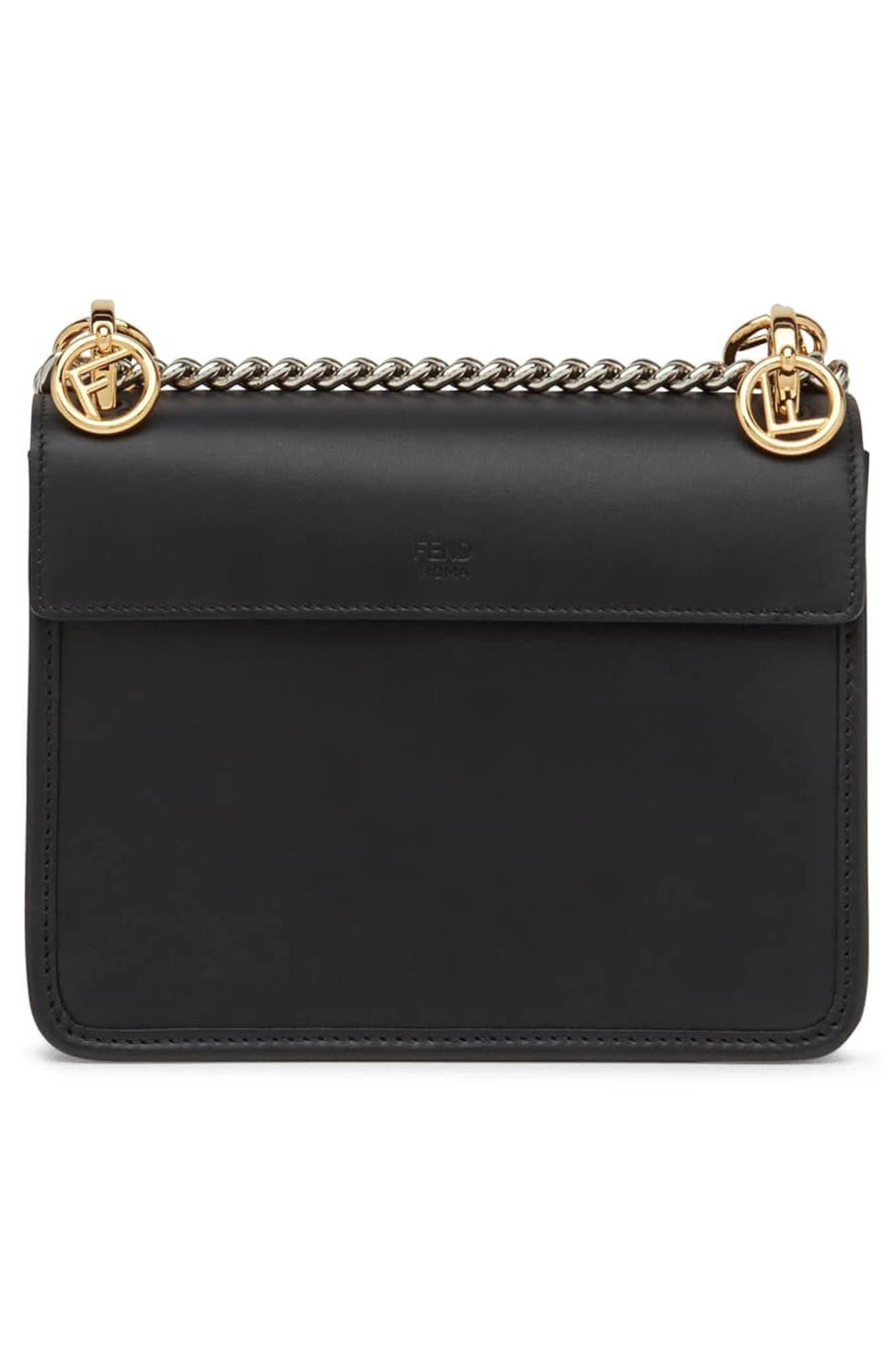 Small Kan I Logo Leather Shoulder Bag,                             Alternate thumbnail 2, color,                             NERO/ TOBACCO/ PALLADIO