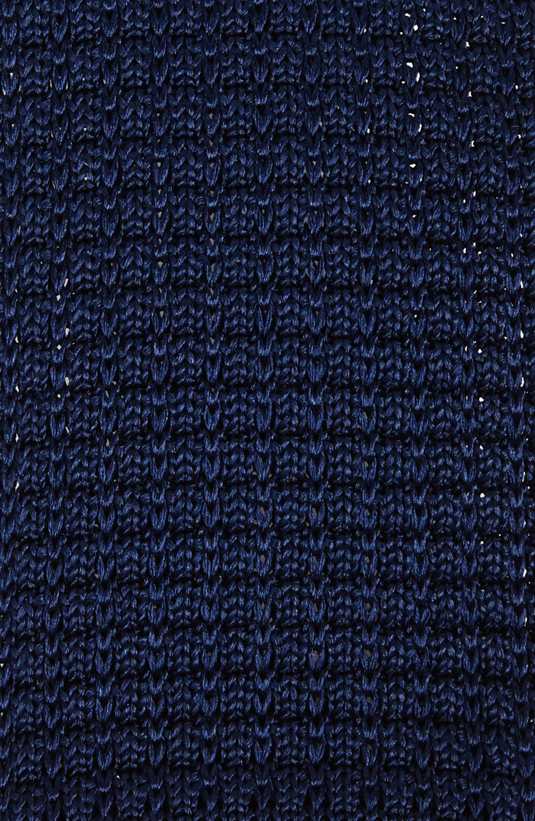 Knit Silk Tie,                             Alternate thumbnail 2, color,                             NAVY