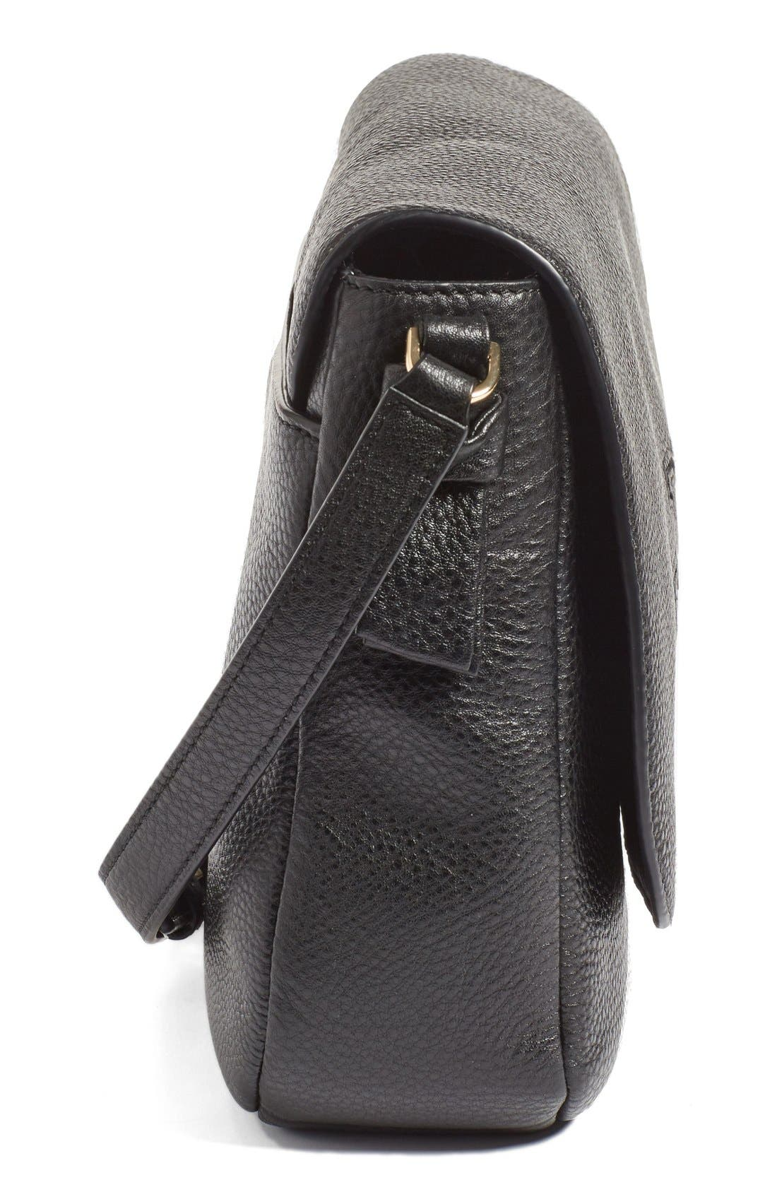 'Harper' Leather Crossbody Bag,                             Alternate thumbnail 3, color,                             012