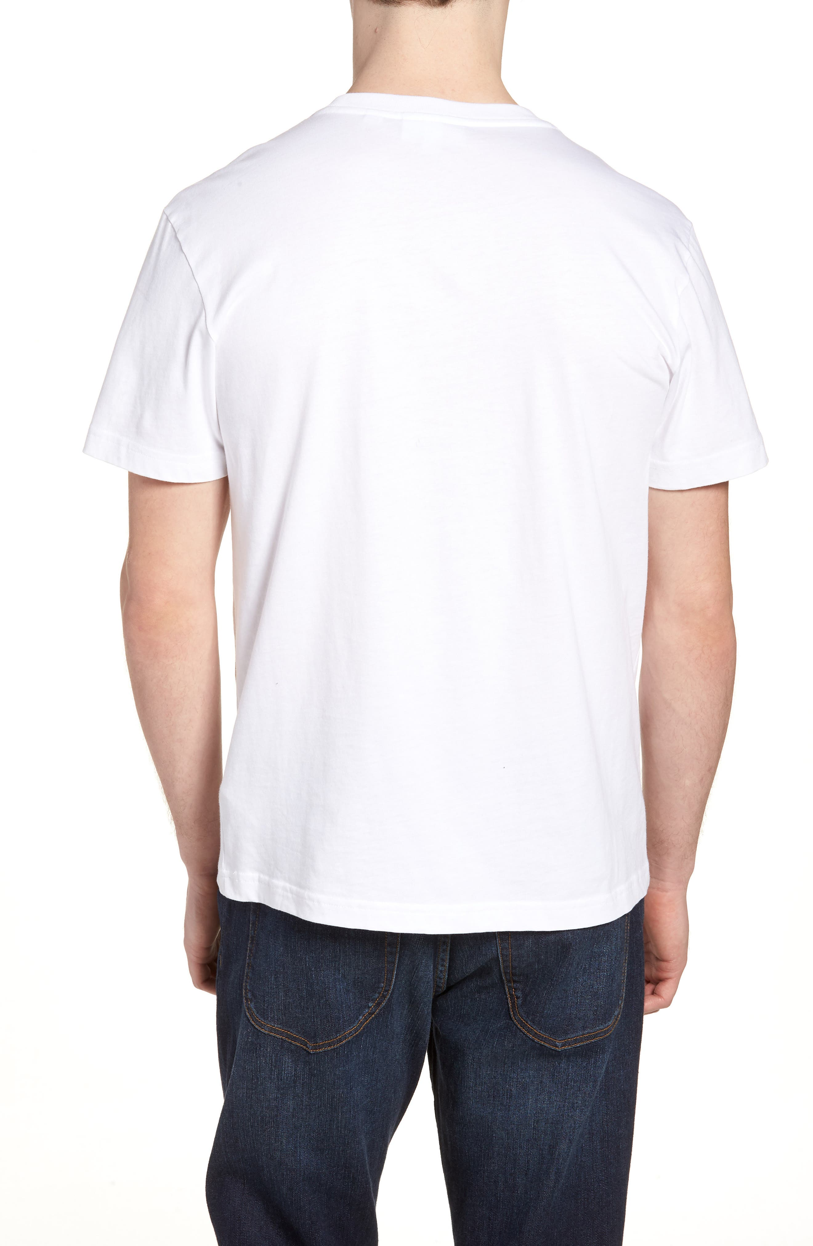Crocodile T-Shirt,                             Alternate thumbnail 2, color,                             WHITE/ NAVY BLUE