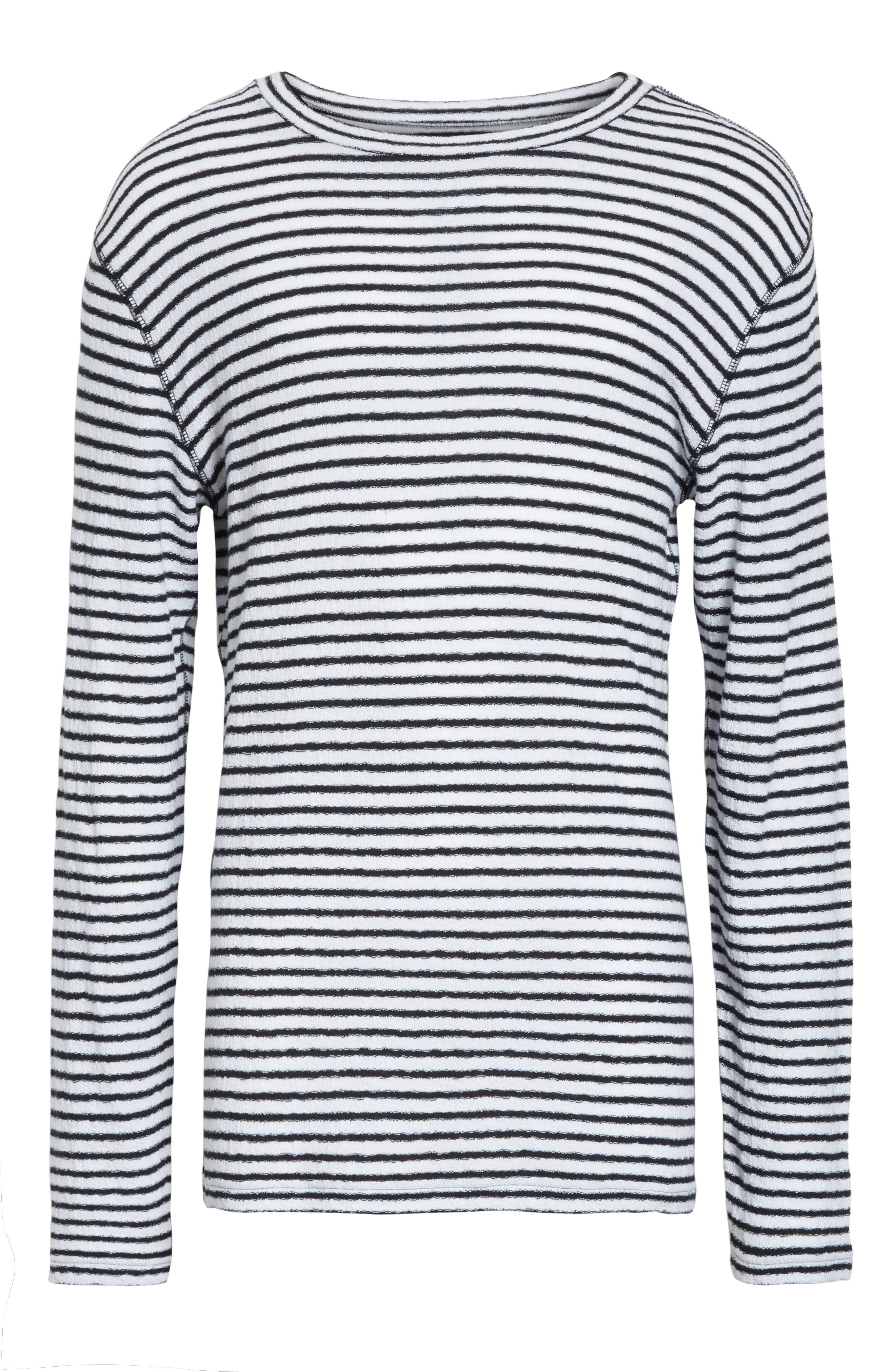 Alex Stripe Long Sleeve T-Shirt,                             Alternate thumbnail 6, color,                             112
