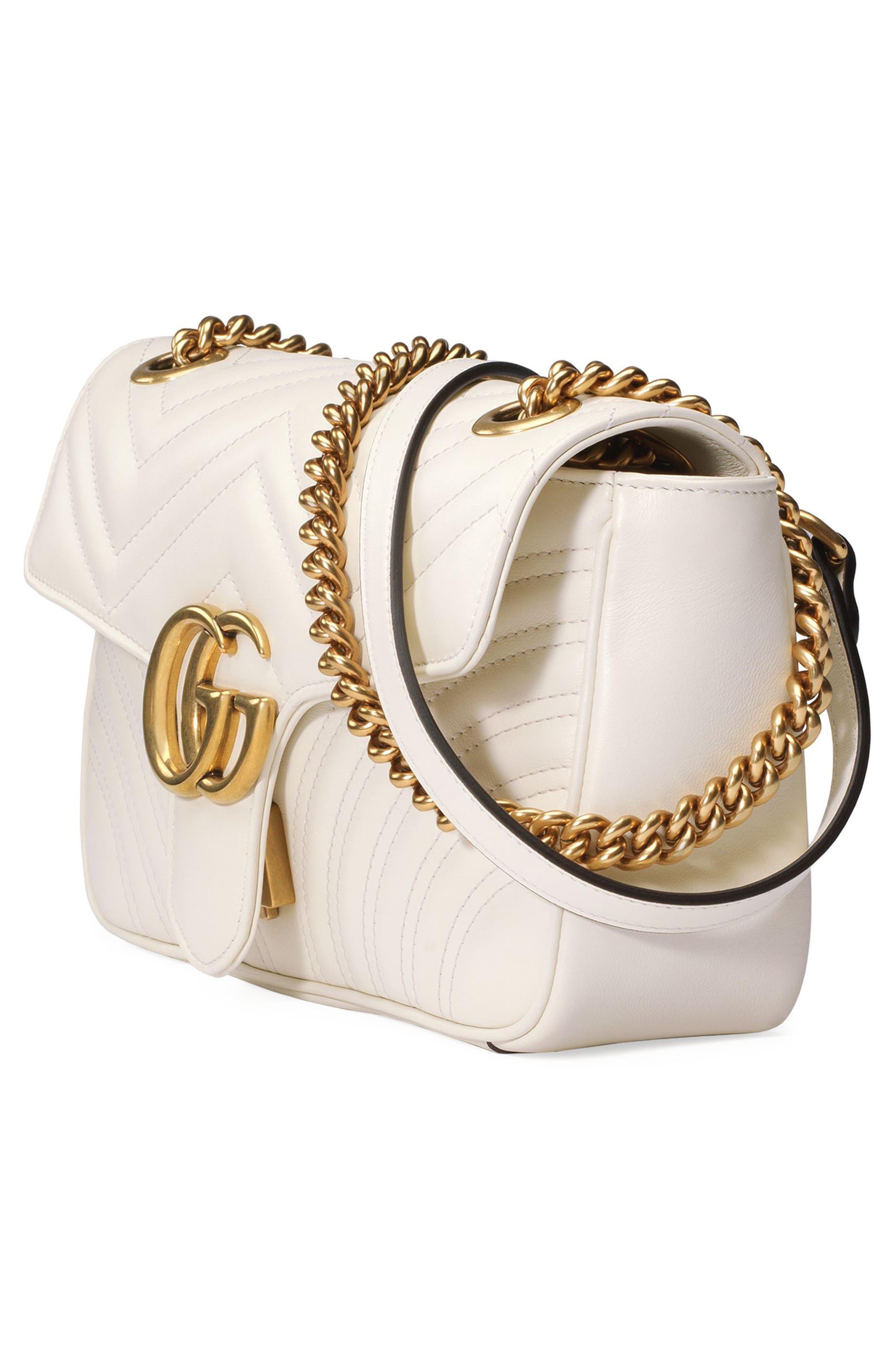 Small GG Marmont 2.0 Matelassé Leather Shoulder Bag,                             Alternate thumbnail 17, color,