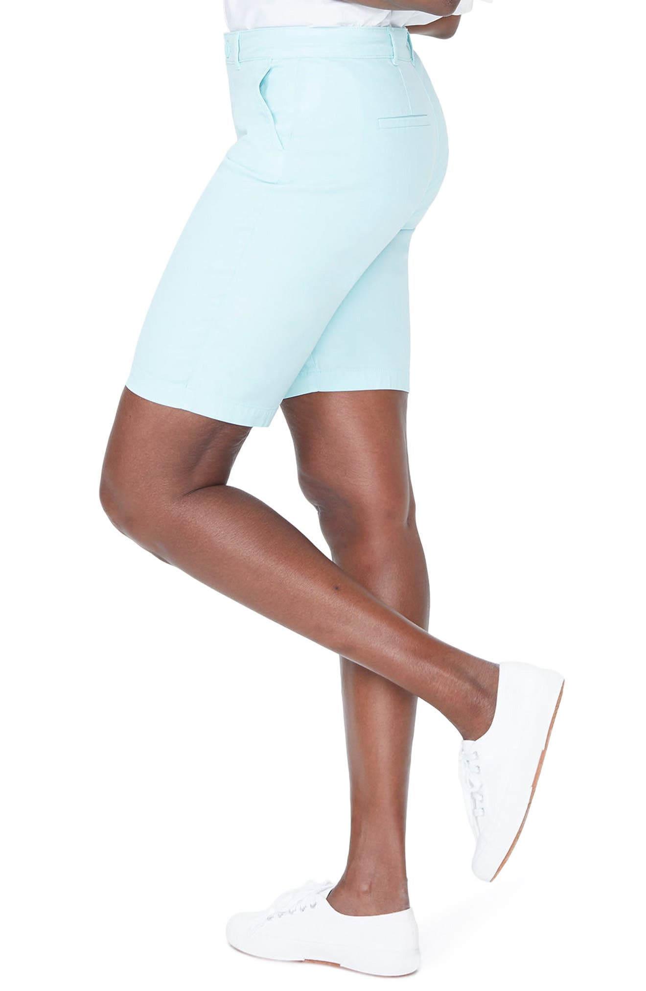 Stretch Twill Bermuda Shorts,                             Alternate thumbnail 3, color,                             PALE CABANA