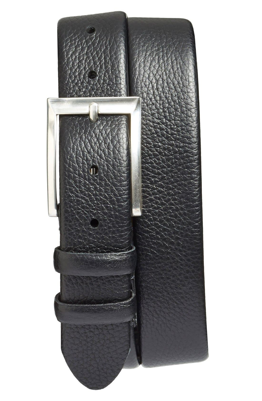 'Tribeca' Leather Belt,                             Main thumbnail 1, color,                             001