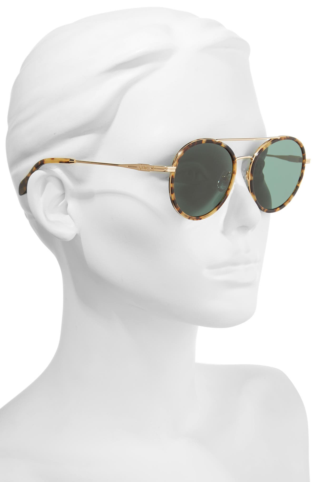 Charli 50mm Mirrored Lens Round Sunglasses,                             Alternate thumbnail 2, color,                             200