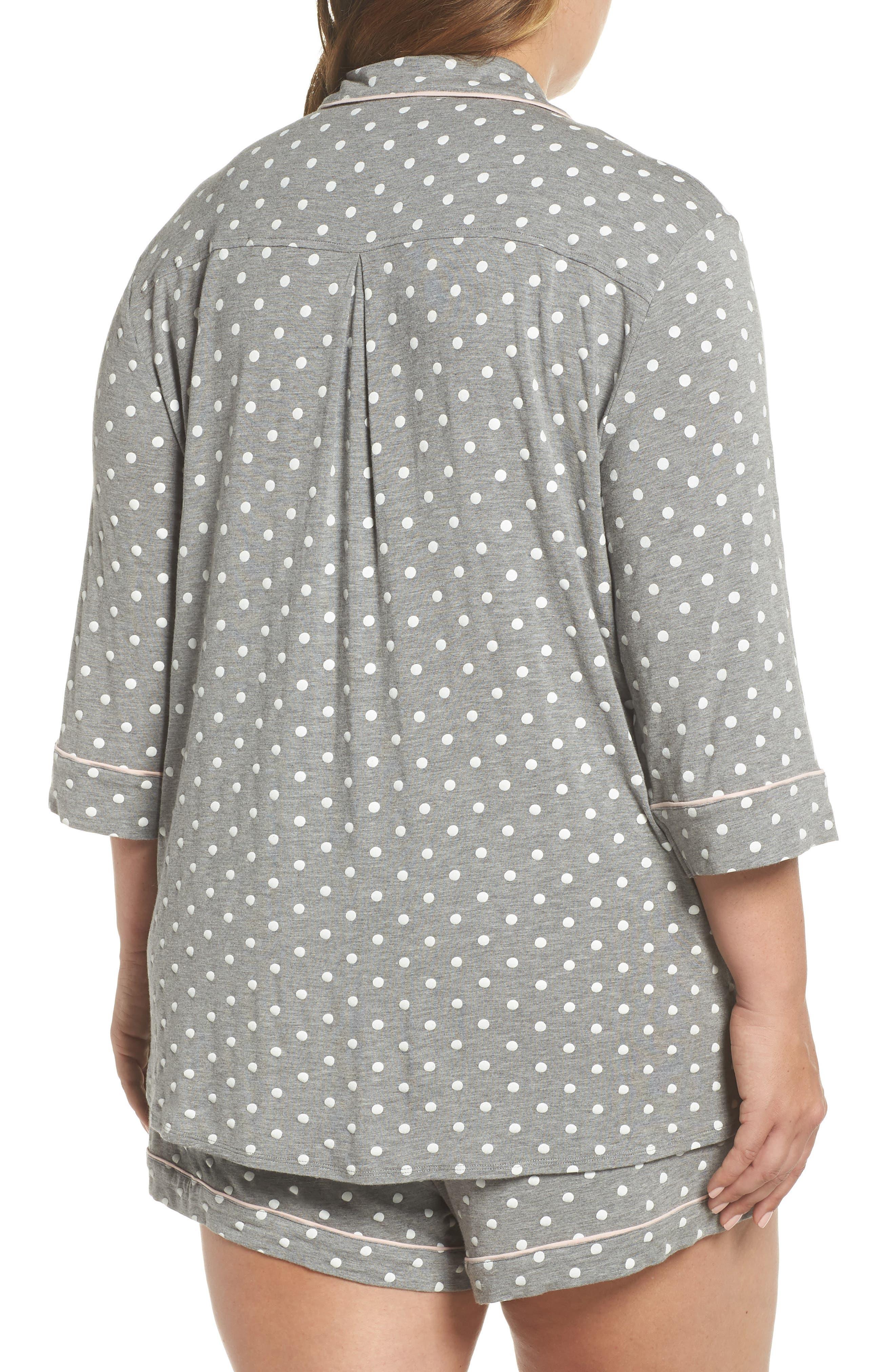 Modal Three-Quarter Sleeve Short Pajamas,                             Alternate thumbnail 2, color,                             027