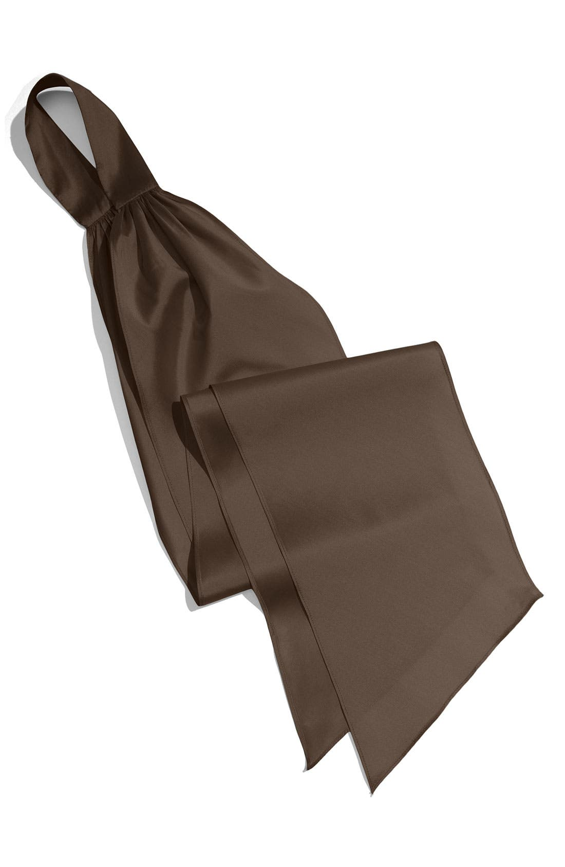 Silky Taffeta Sash,                             Main thumbnail 1, color,                             Chocolate