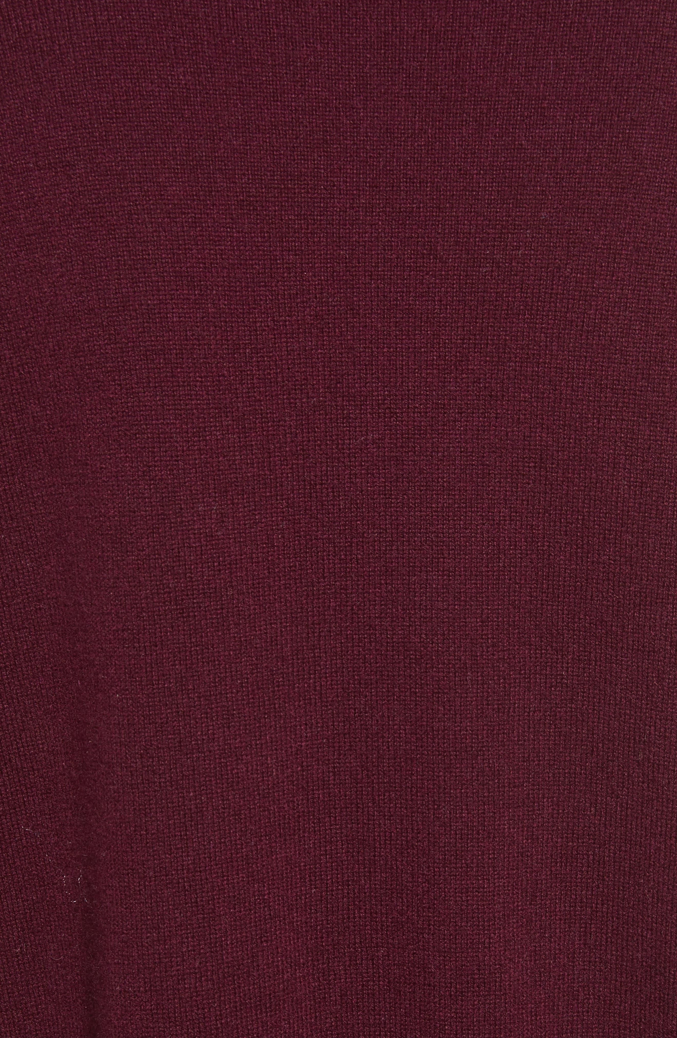 Ruffle Hem Crewneck Sweater,                             Alternate thumbnail 5, color,