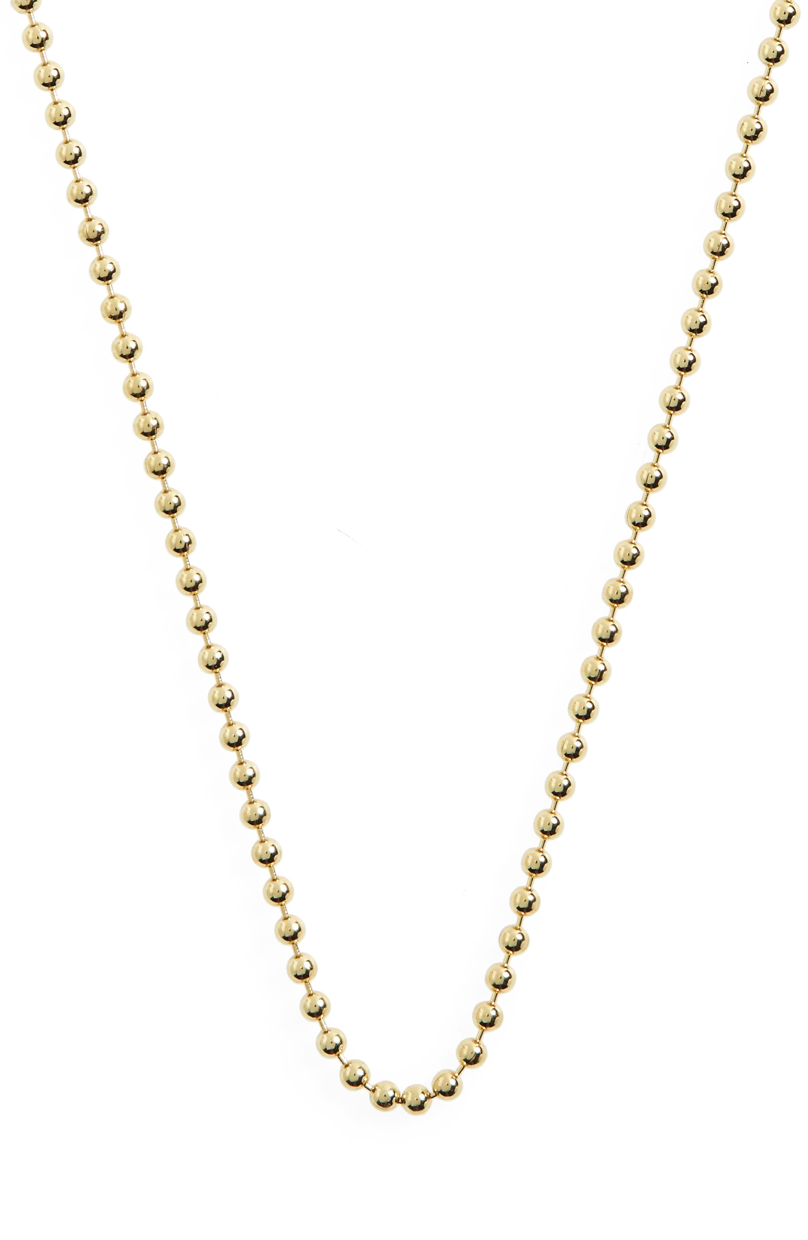 Temple St. Clair 18-Inch Ball Chain Necklace,                             Main thumbnail 1, color,                             YELLOW GOLD