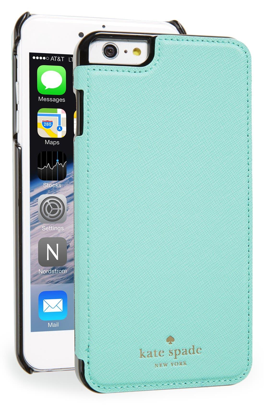 iPhone 6 Plus & 6s Plus leather folio case,                             Main thumbnail 1, color,                             400